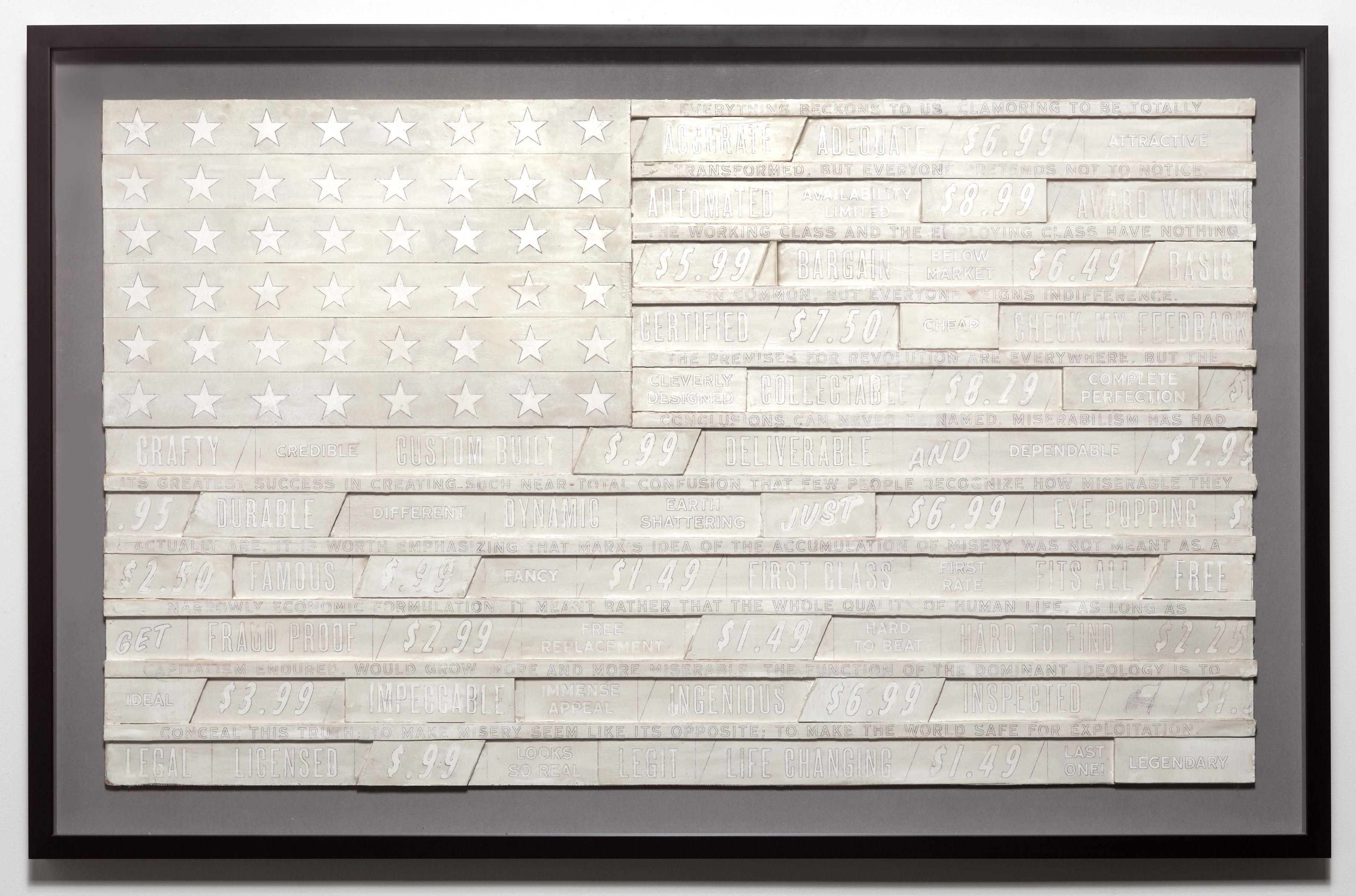SKYLAR FEIN, White Flag for Franklin Rosemont (large), 2019
