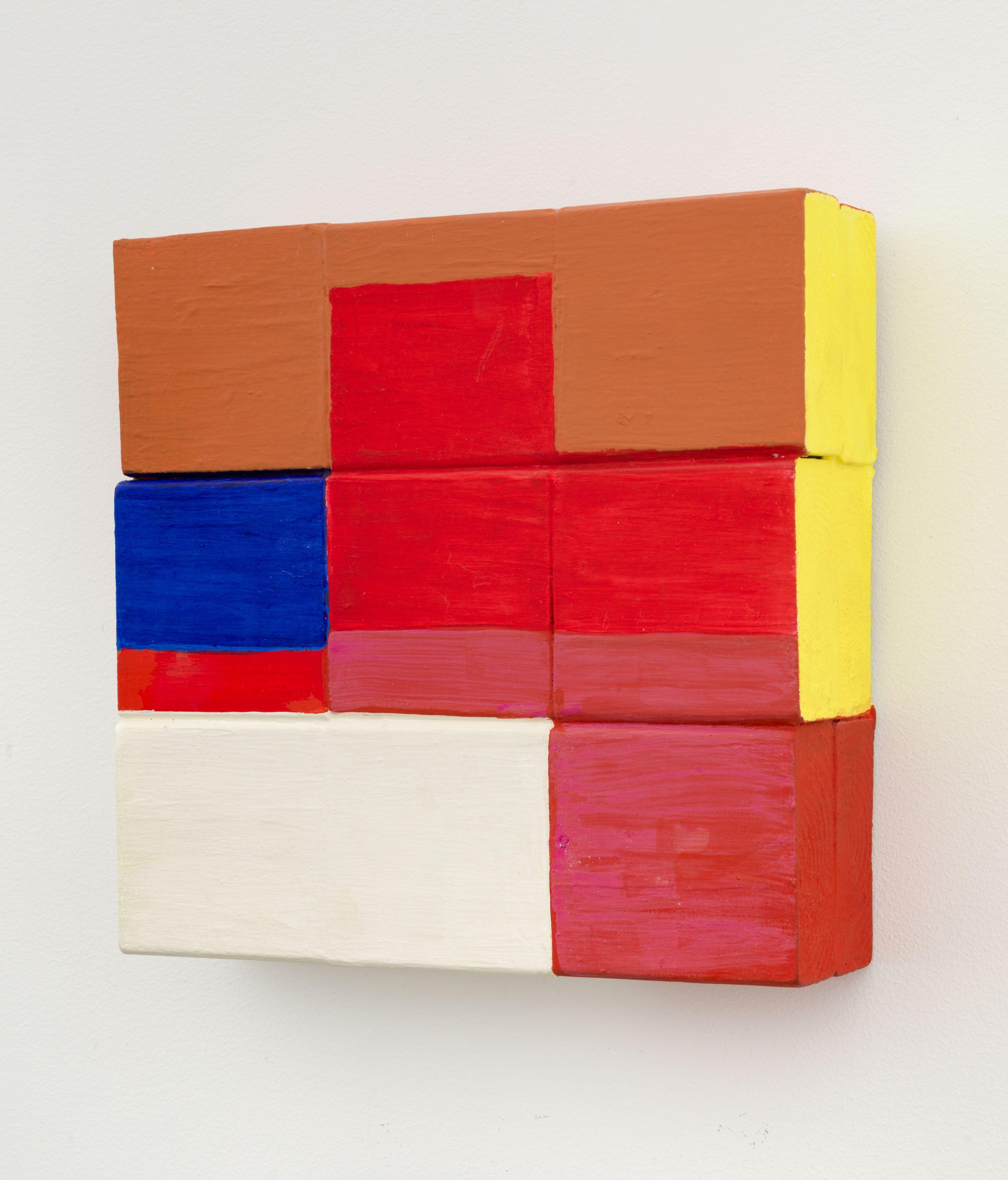 Refrigerator white, 2016, Wooden blocks, Flashe acrylic, house paint