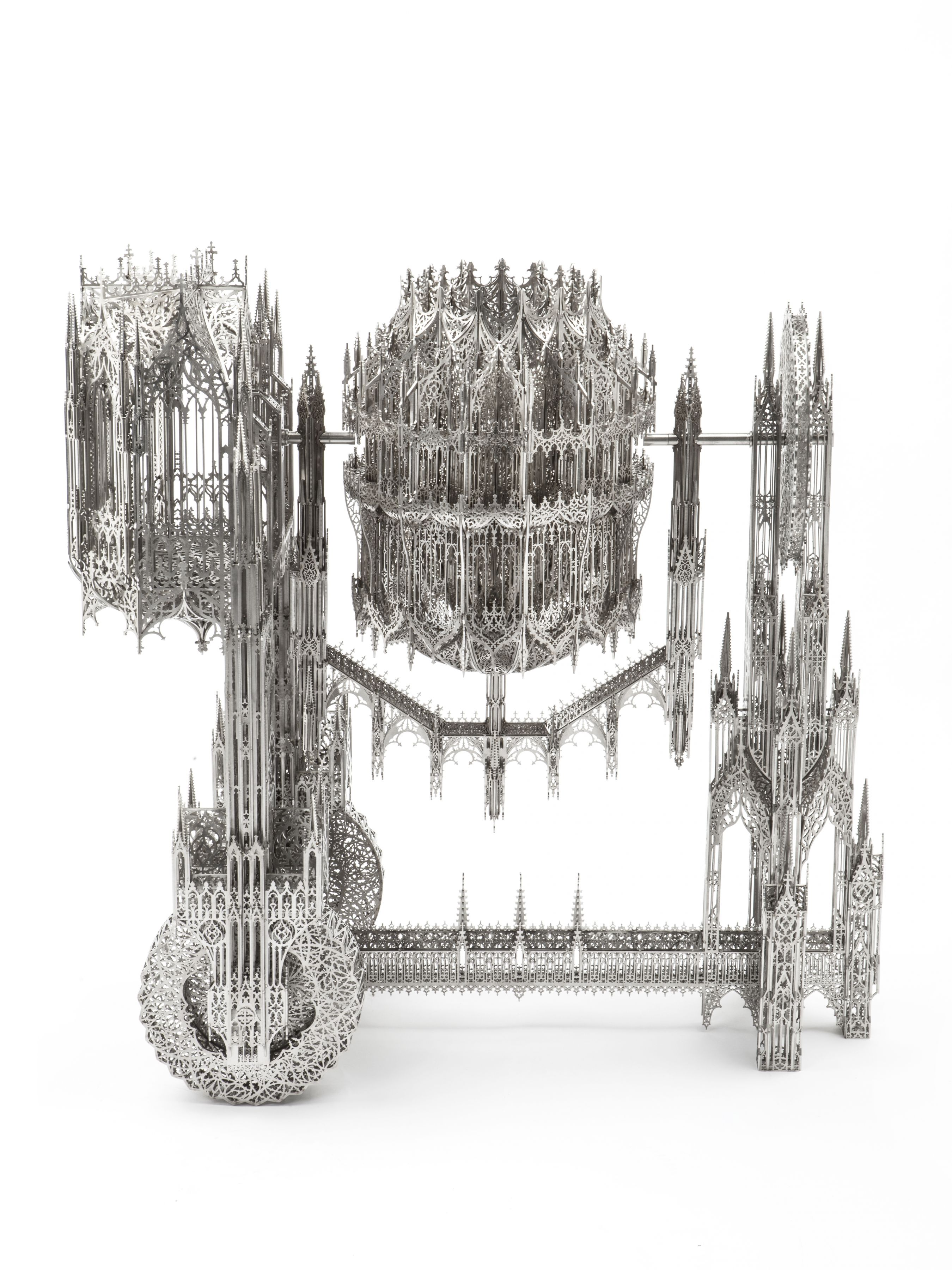 Concrete Mixer, 2010, Laser-cut stainless steel