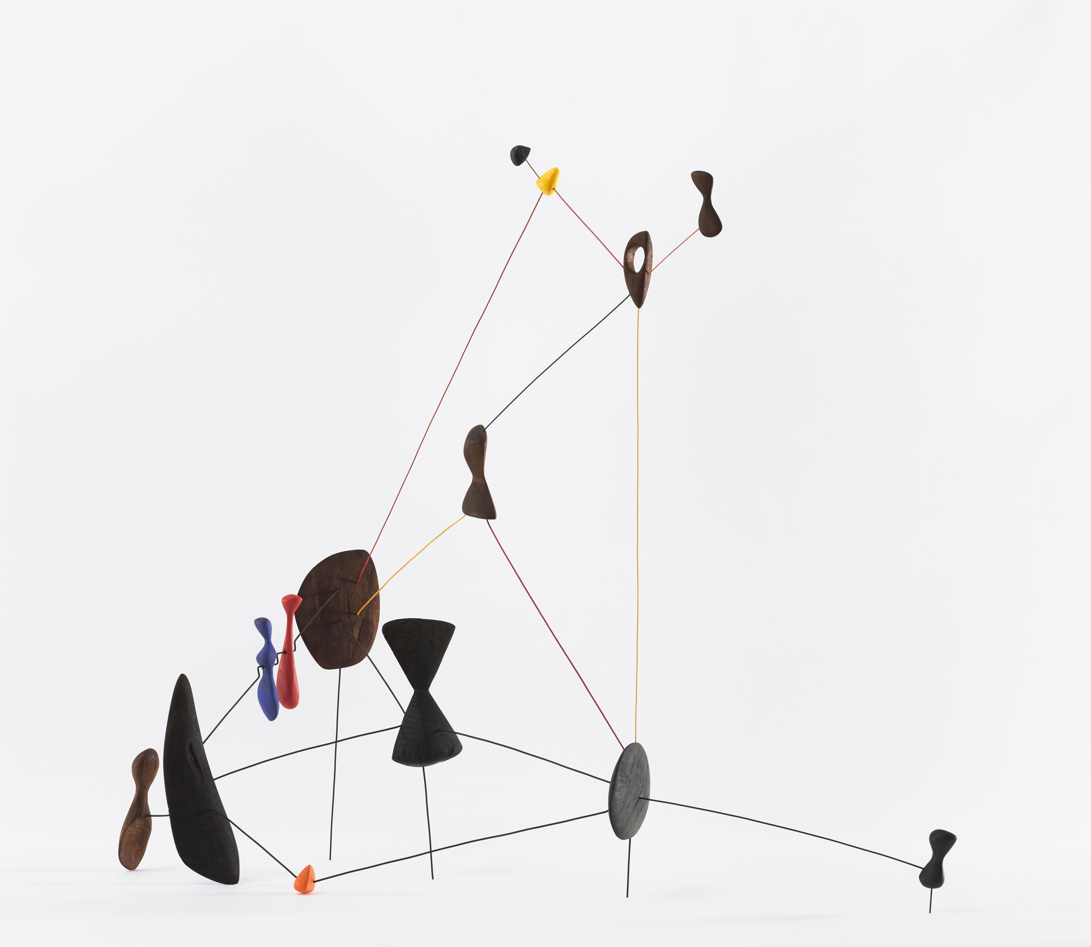 Alexander Calder,Constellation, 1943, Wood, wire and paint