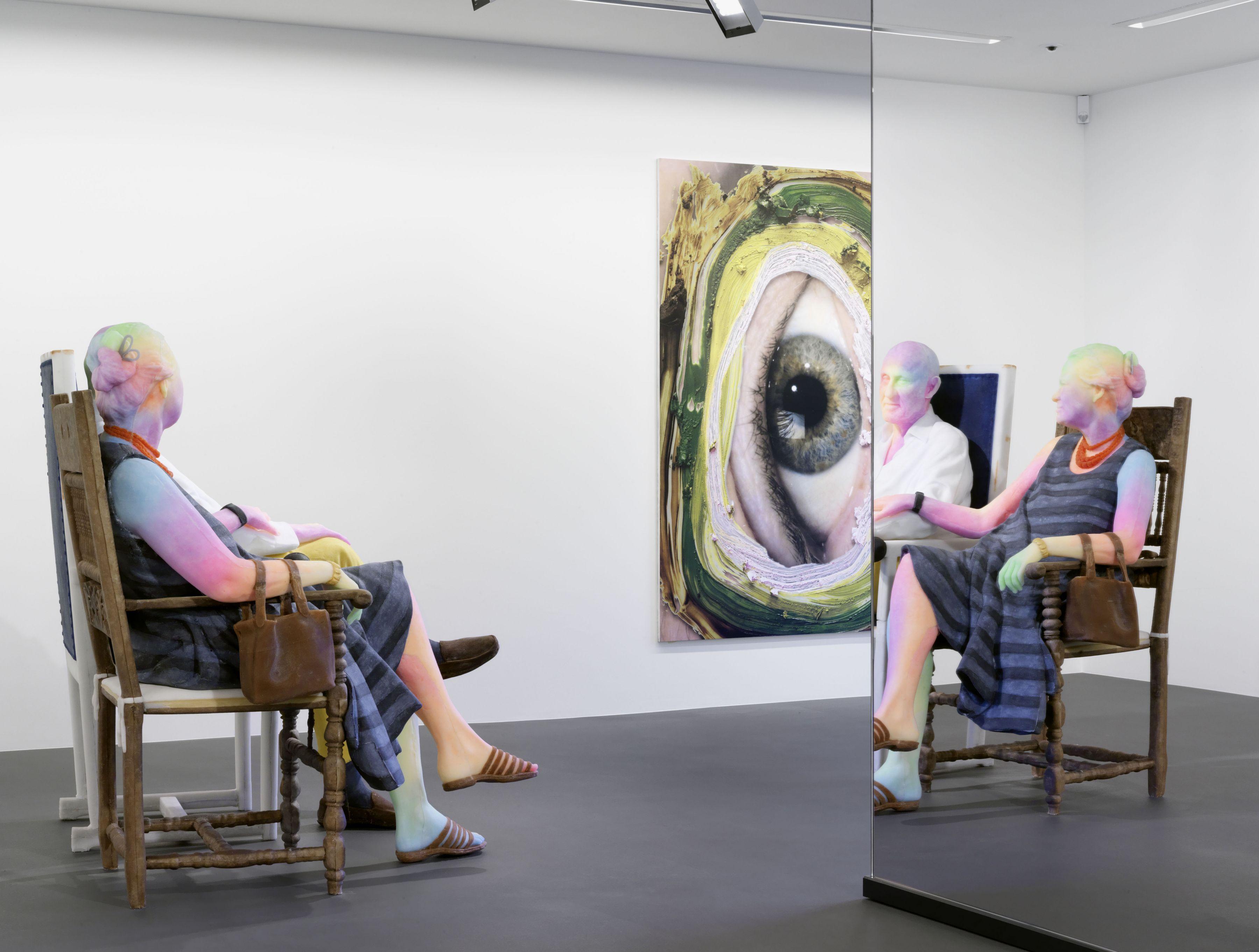 Installation view,Urs Fischer:Bruno & Yoyo,Vito Schnabel Gallery, St. Moritz, 2015