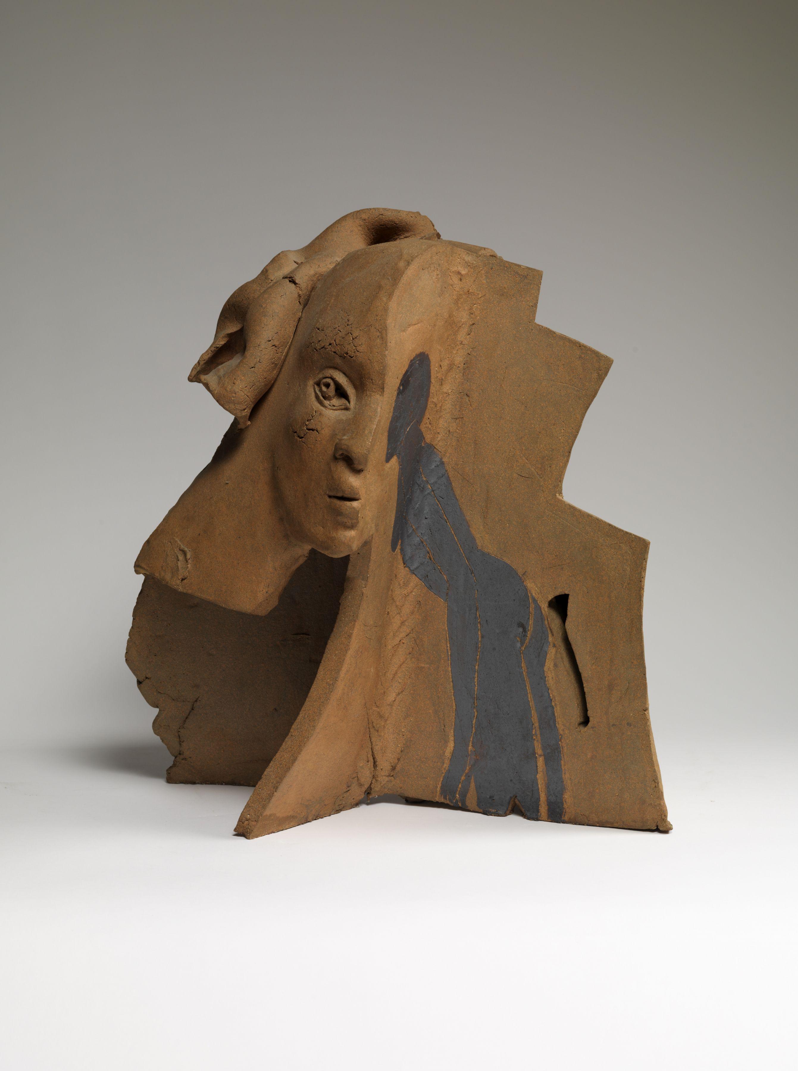 Nighthead, 1971 Ceramic with acrylic
