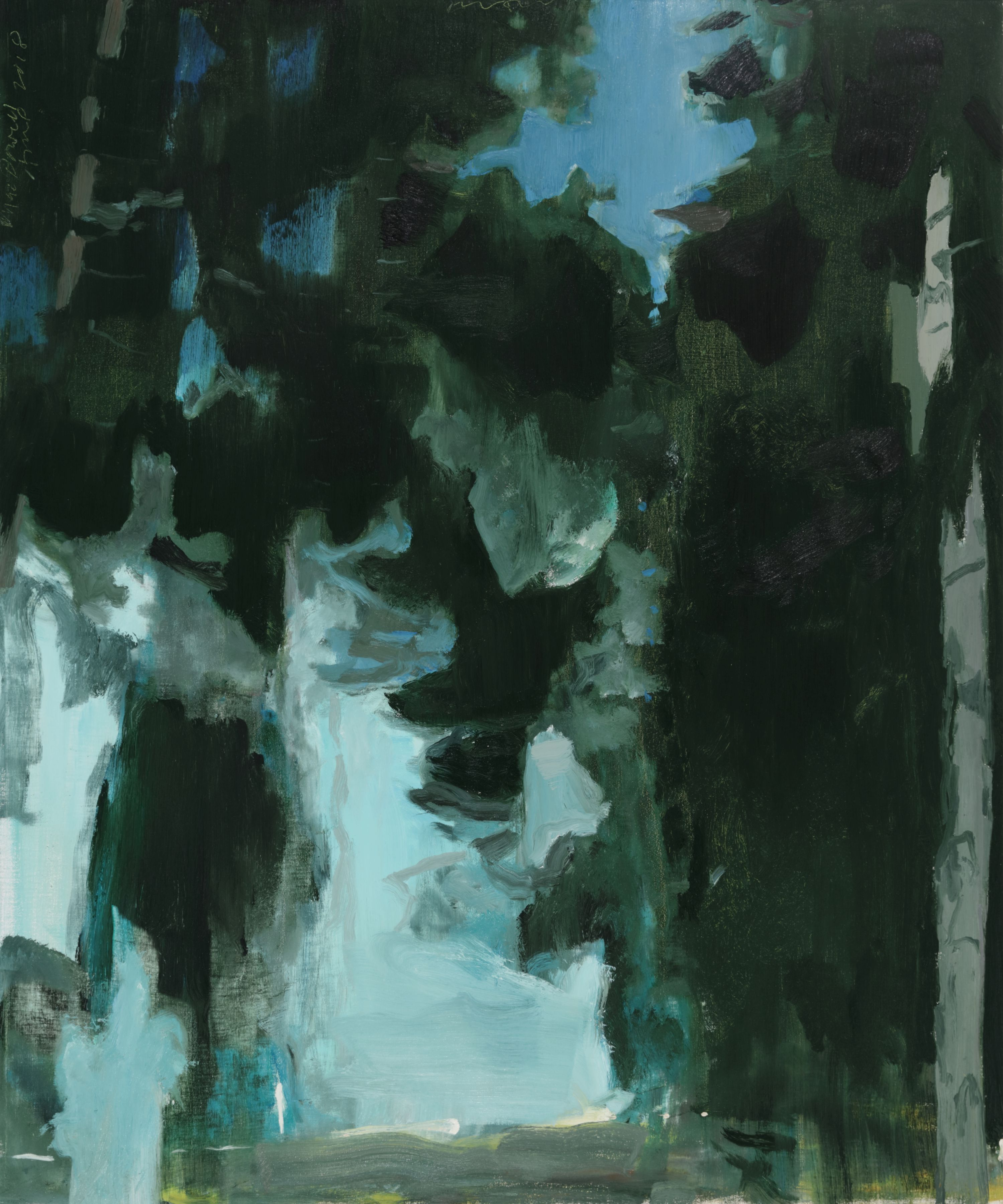 Pinewood Nocturne no. 1, 2018, Oil on linen
