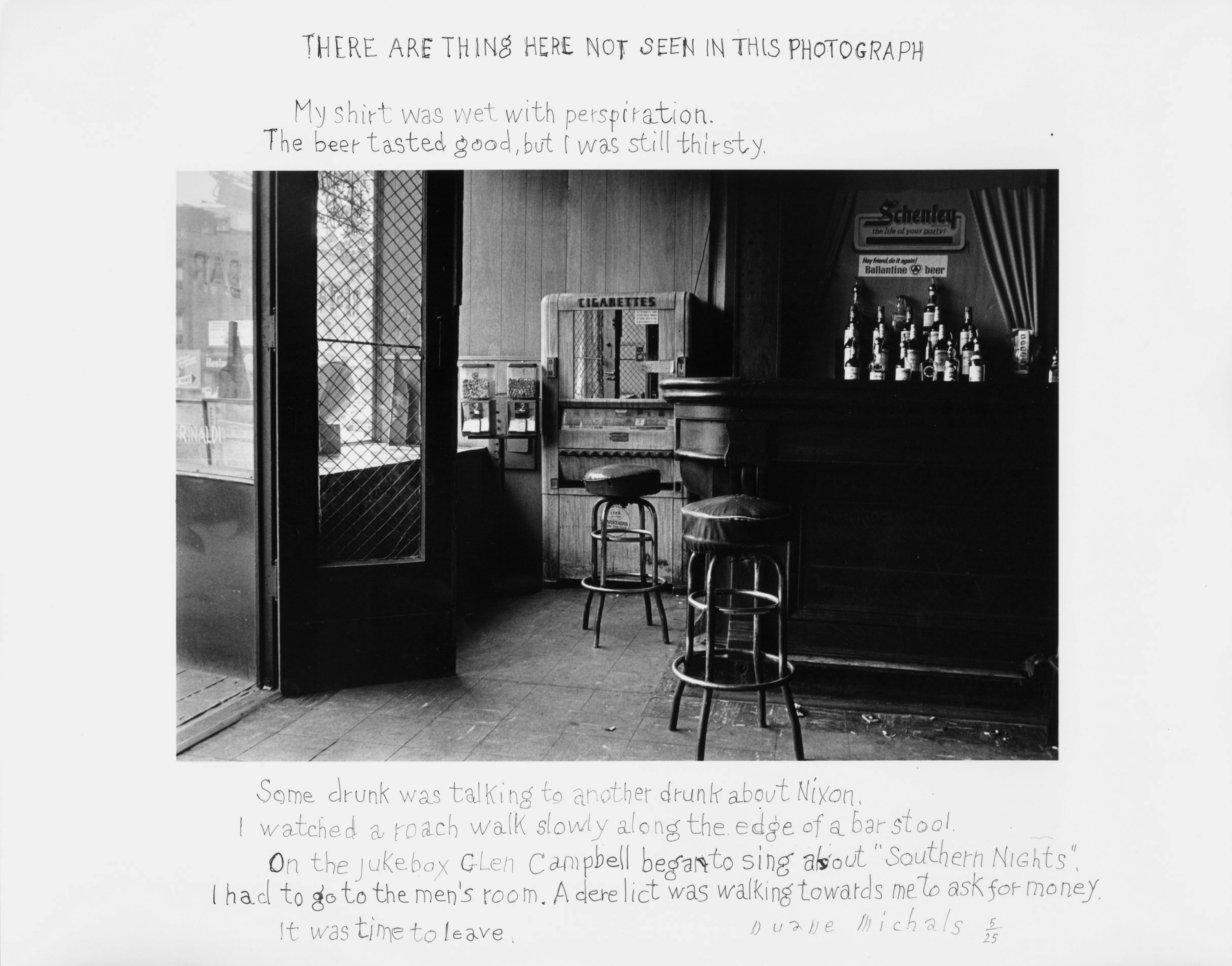 Duane Michals, There Are Things Here Not Seen in This Photograph, 1977/1977