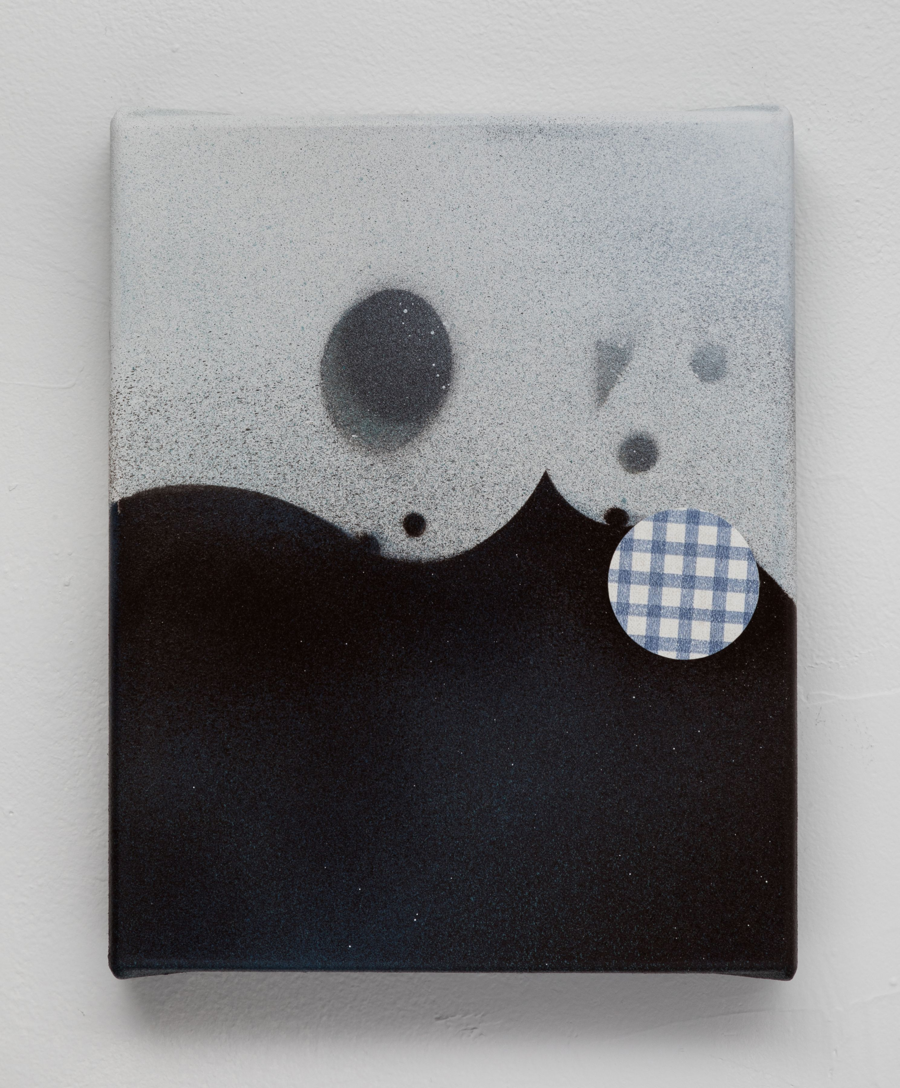"""George Negroponte. My Miro. 2018. Mixed Media on Canvas. 10"""" x 8"""" at Anita Rogers Gallery"""