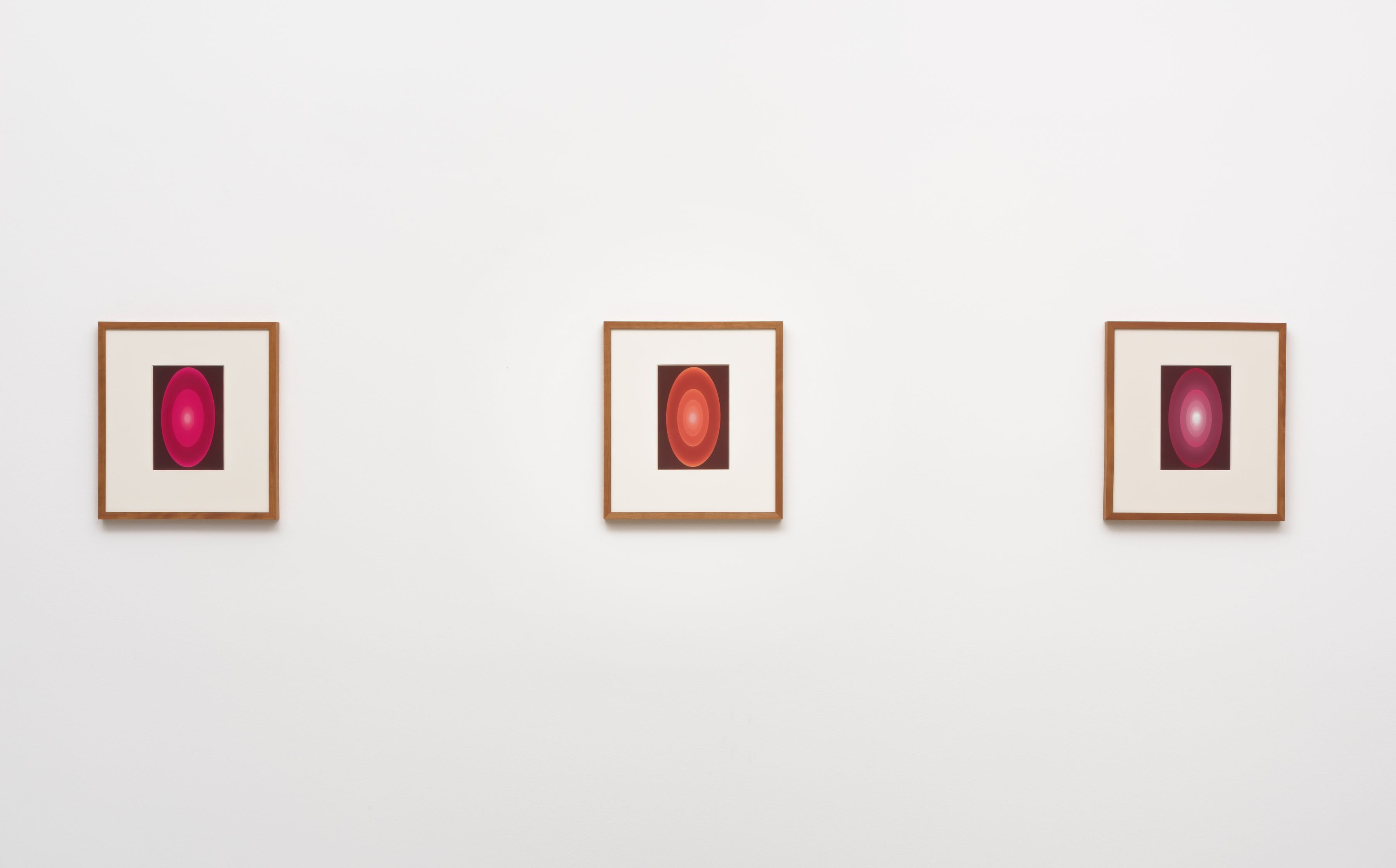 James Turrell, From the Guggenheim, Set 1, Reds, Large Vertical, 2015