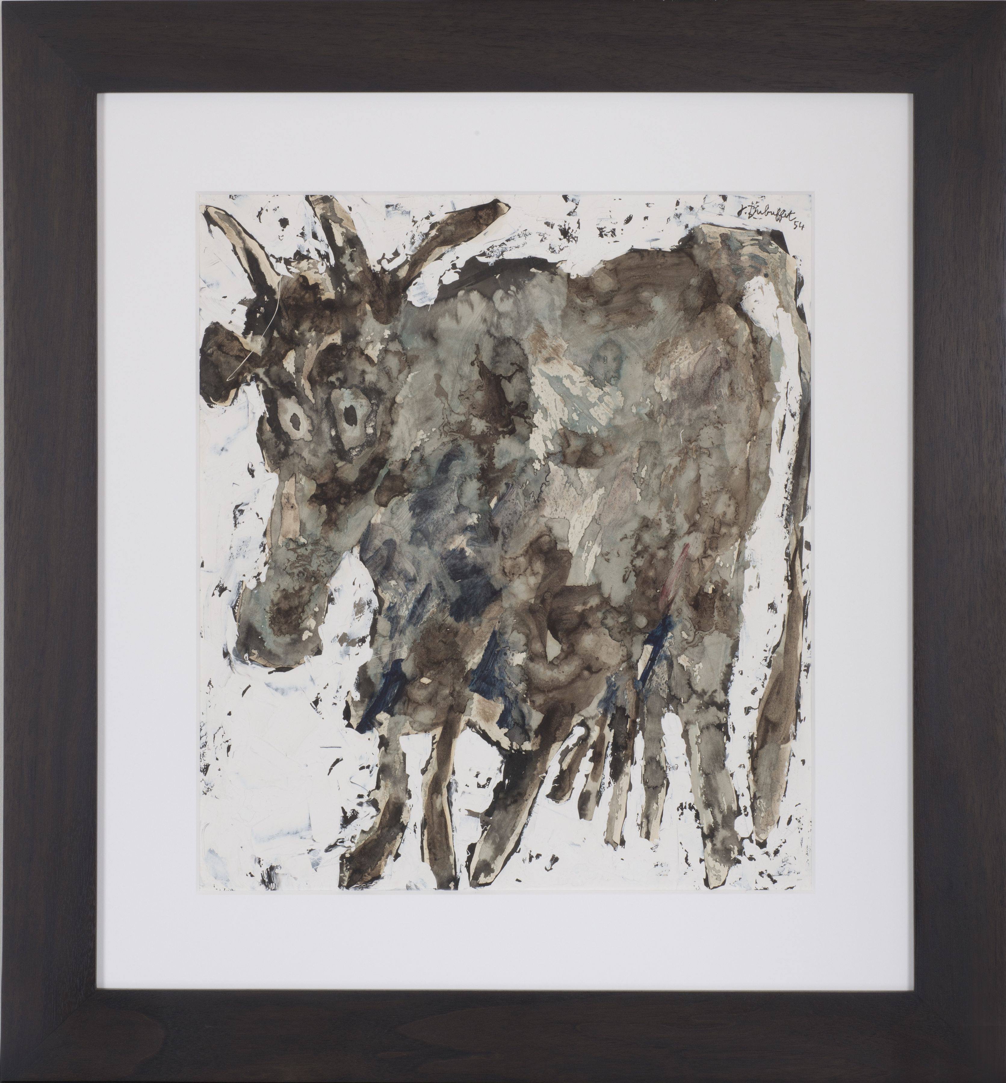Jean Dubuffet Vache Mixed media on paper