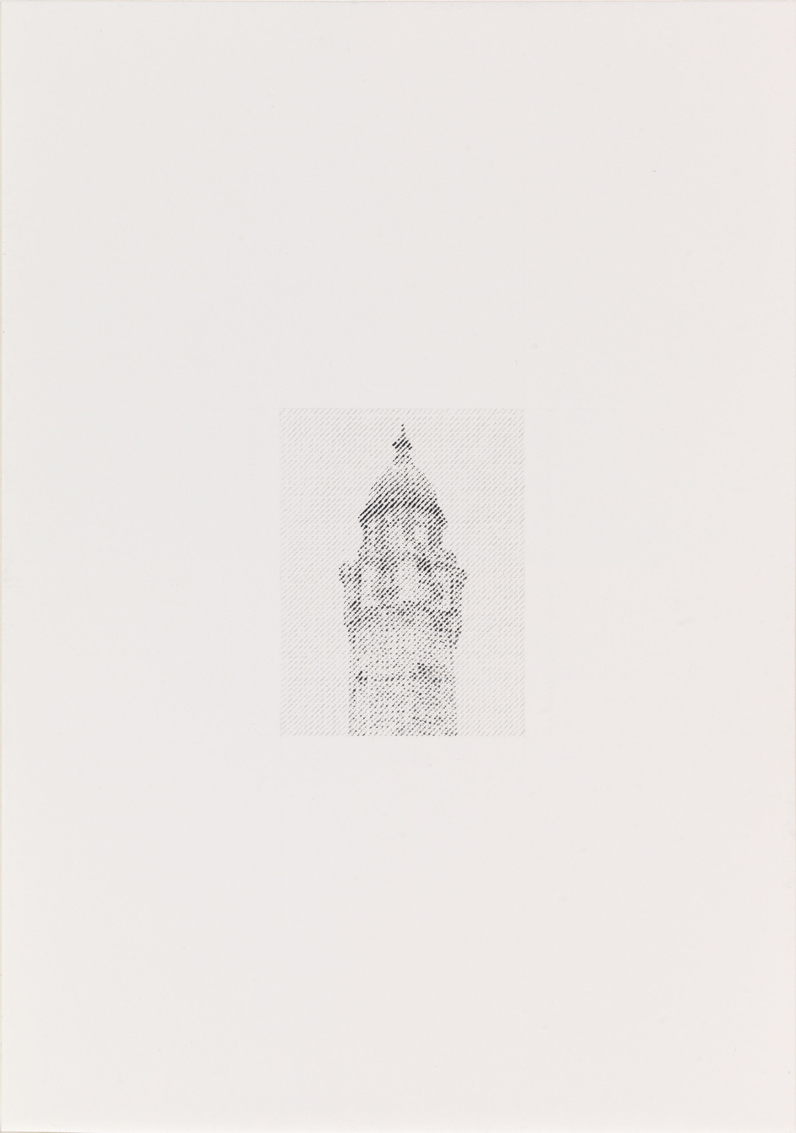 Ewan Gibbs Chicago Water Tower Ink and graphite on paper