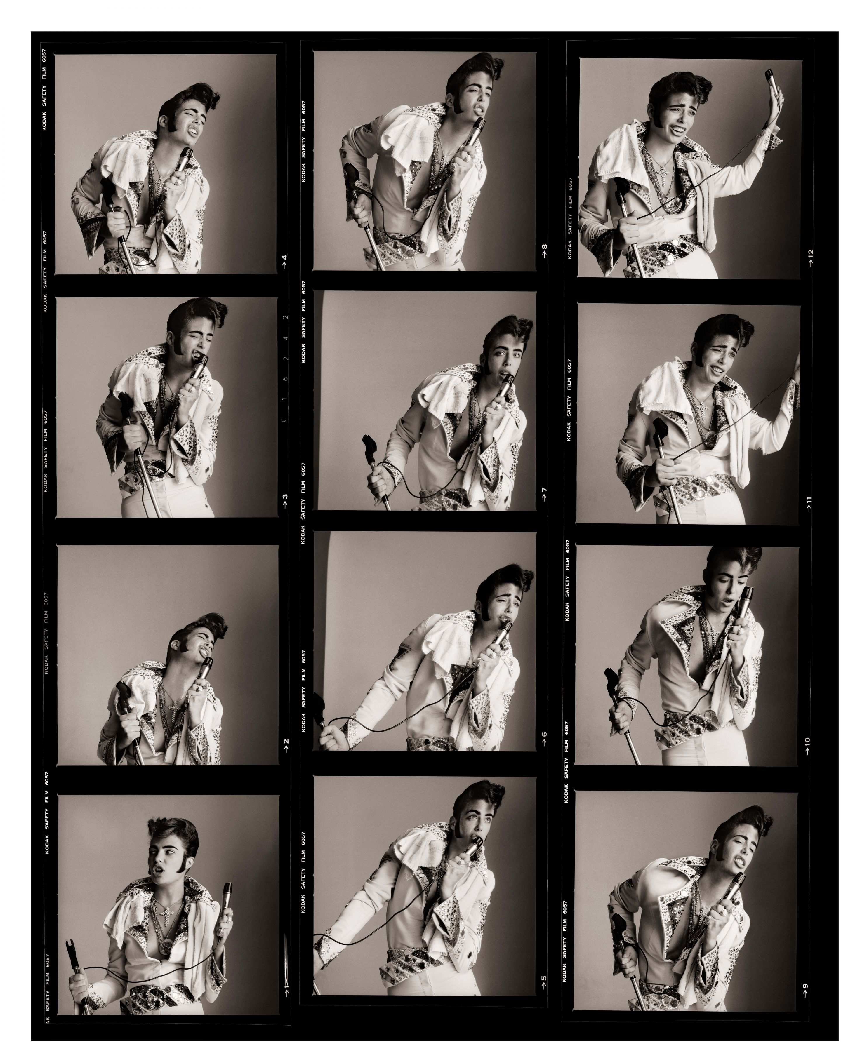 Kelly LeBrock as Greed (Proof Sheet) - The Seven Deadly Sins, Series, Los Angeles, 1985, Archival Pigment Print