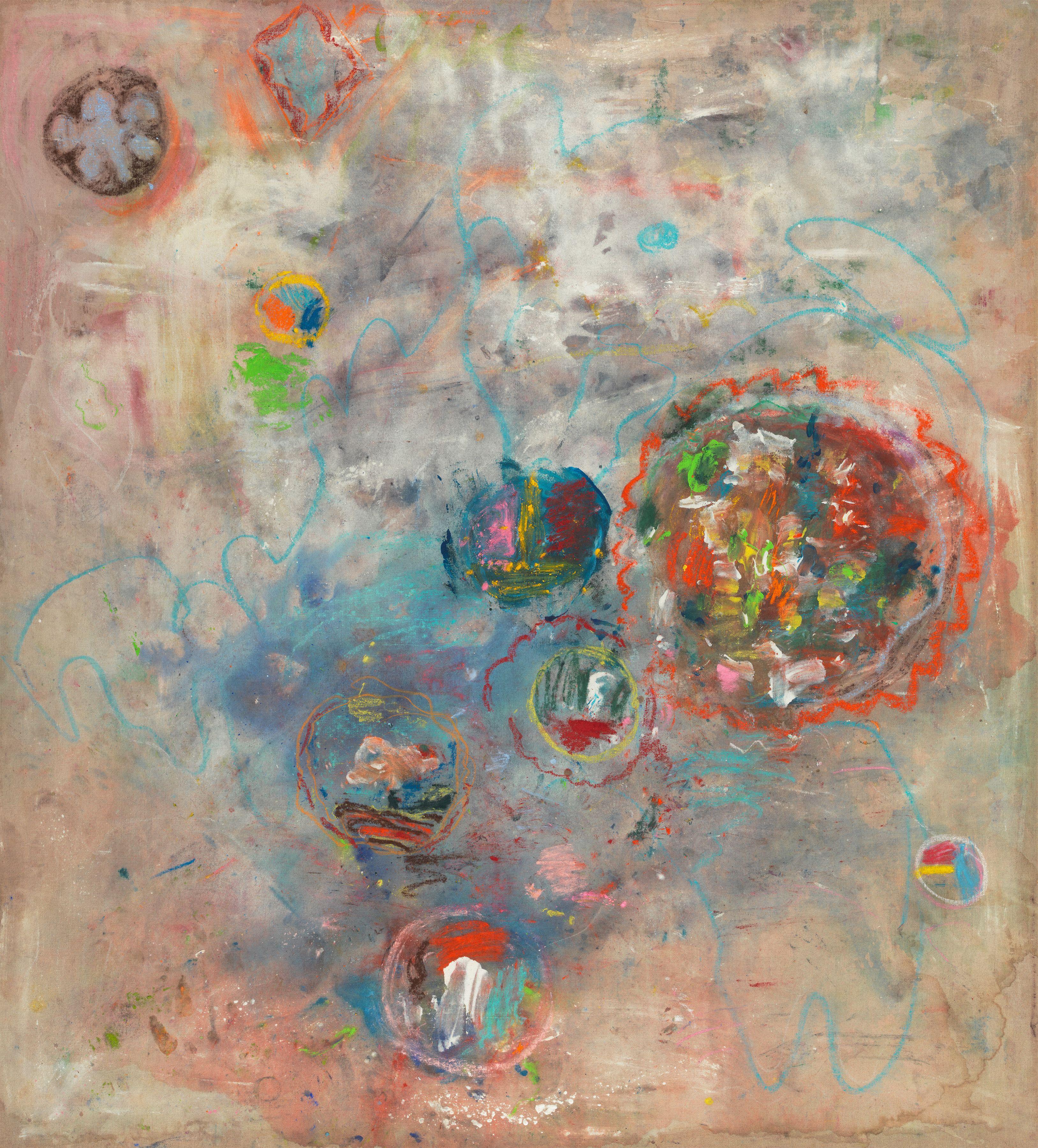 Bild, 2004, Pigment and pastel on canvas