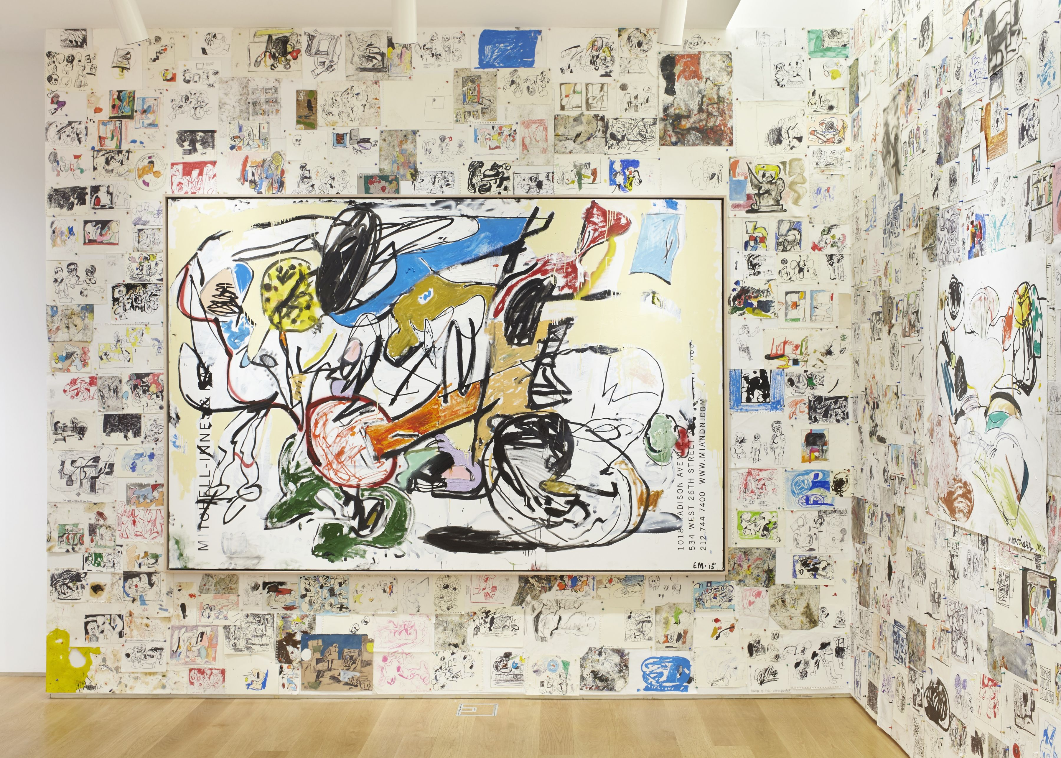 EDDIE MARTINEZ Installation view ofStudio Wallat The Drawing Center, New York, NY, 2017