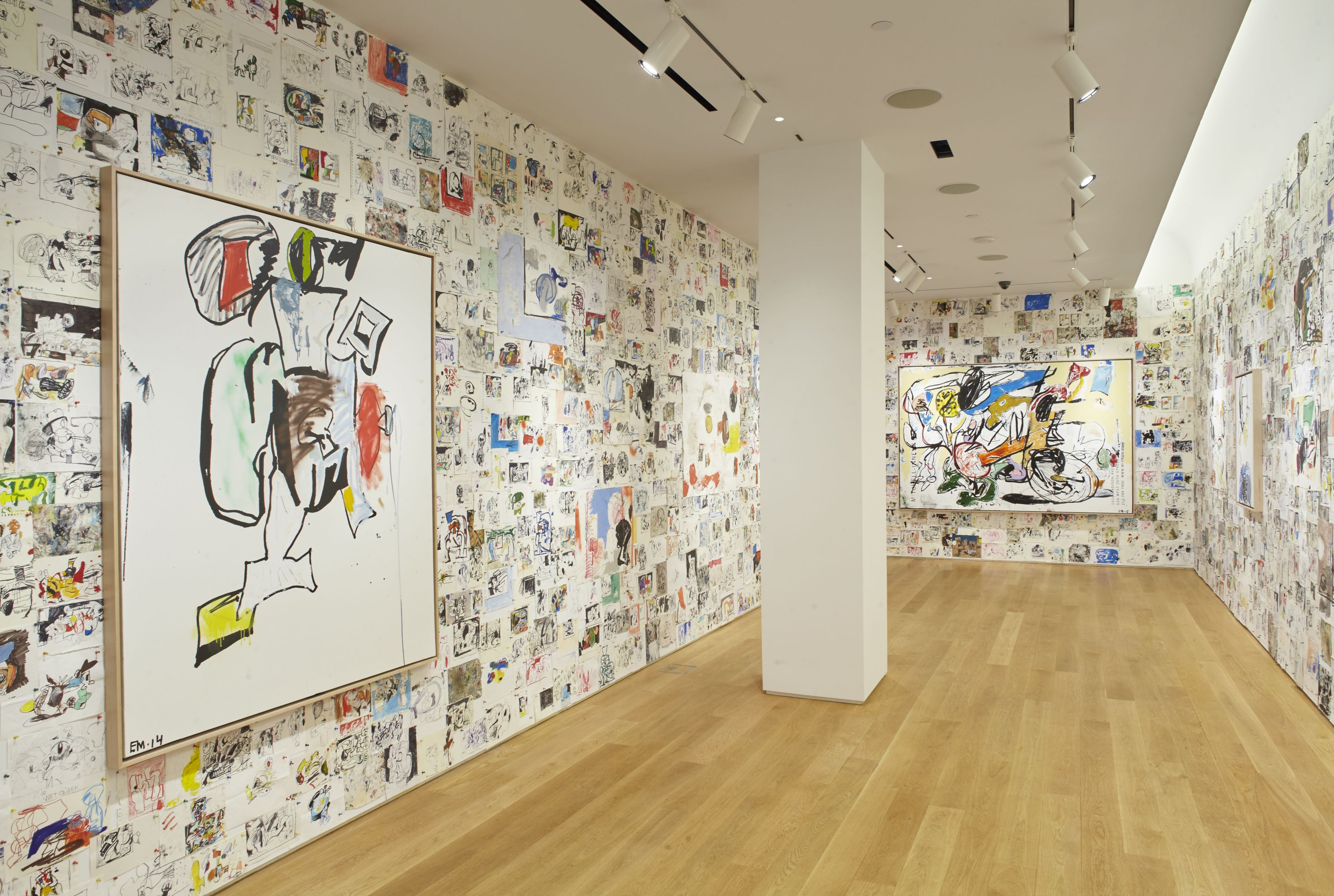 EDDIE MARTINEZInstallation view ofStudio Wallat The Drawing Center, New York, NY, 2017