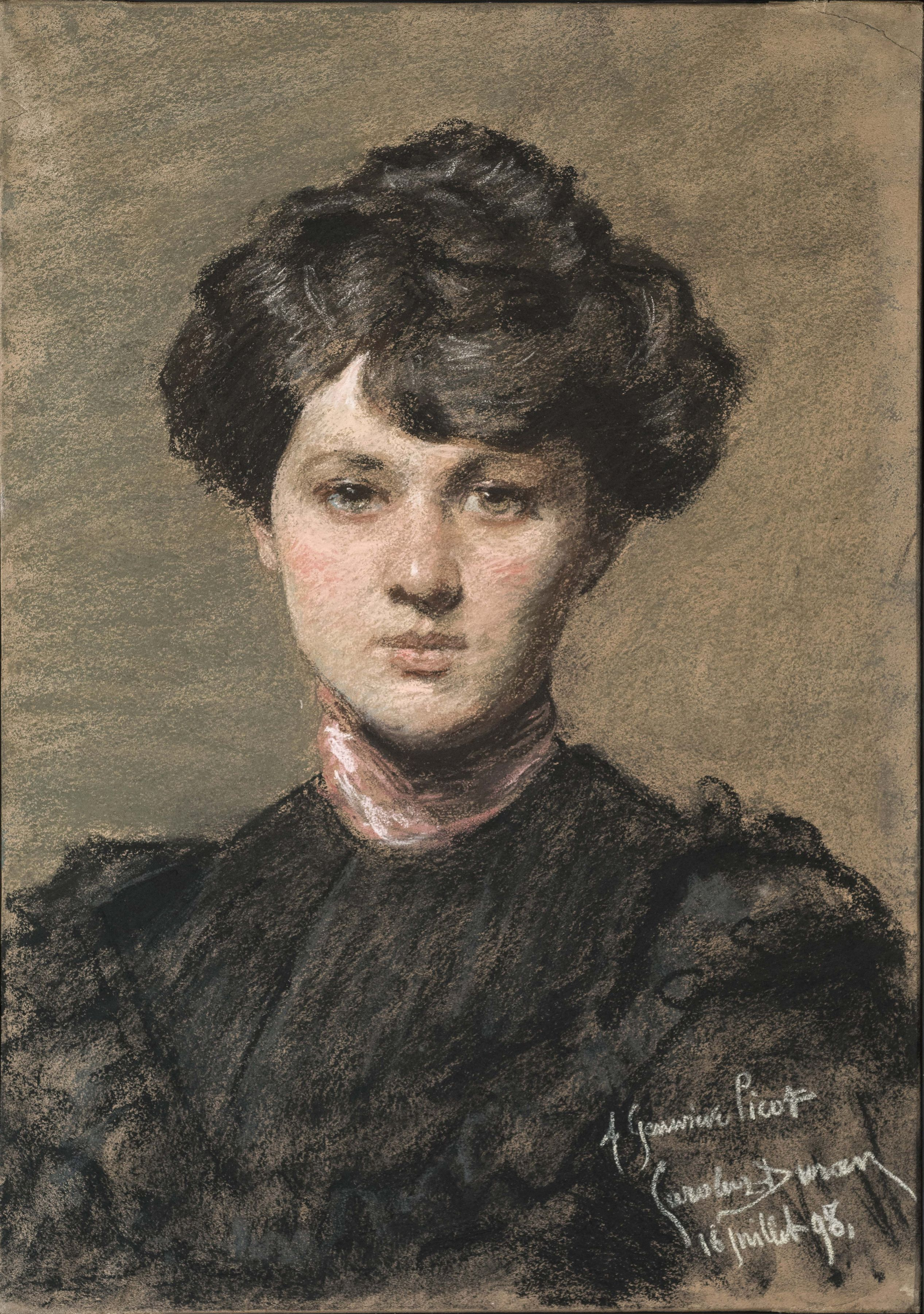 Carolus-Durand, Portrait of Genevieve Picot, 1898,   Pastel on paper 21 1/4 x 15 5/8 inches