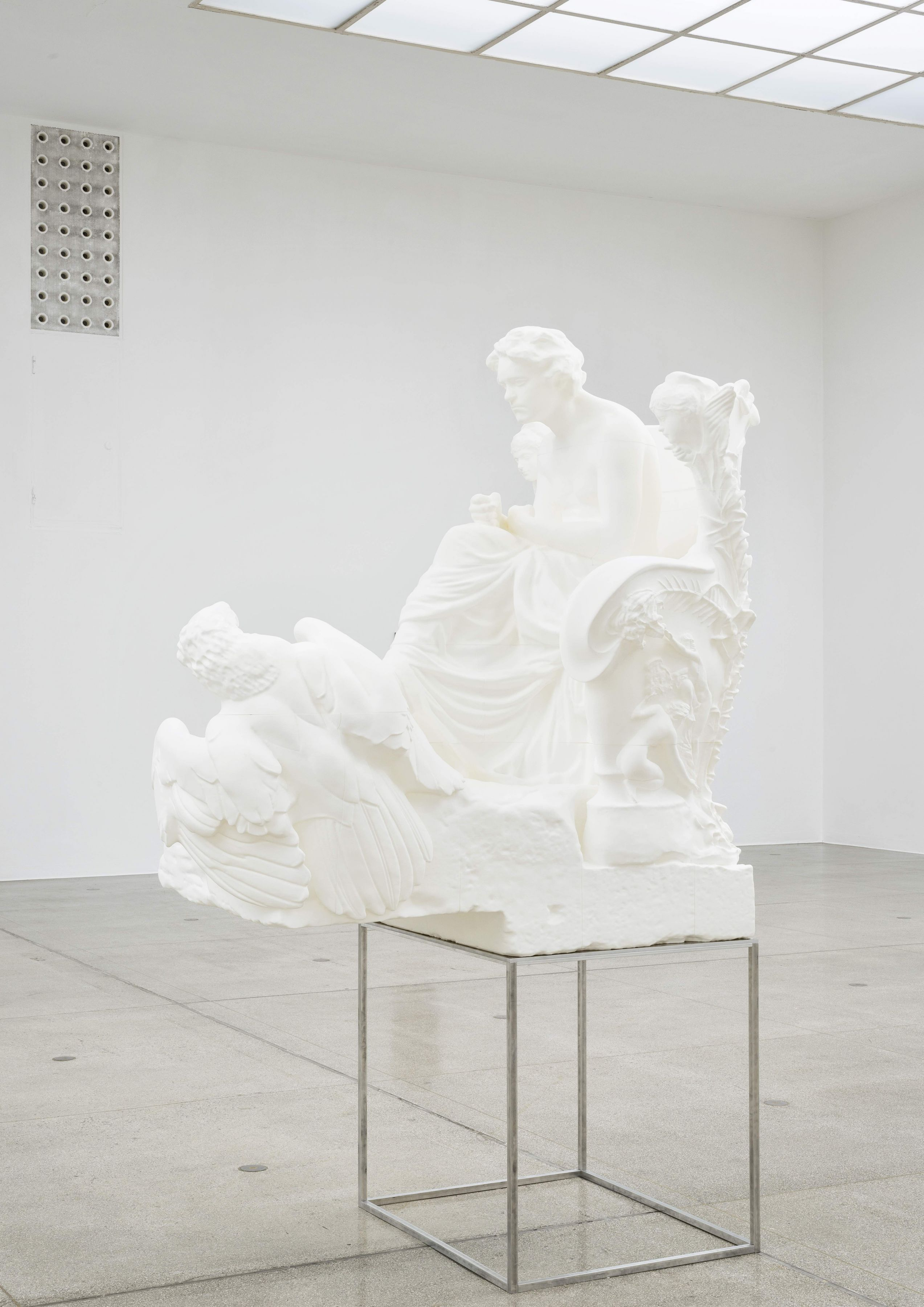 """Left side installation view of Beethoven, 2016, in """"Photoplastik,"""" at Secession, Vienna."""