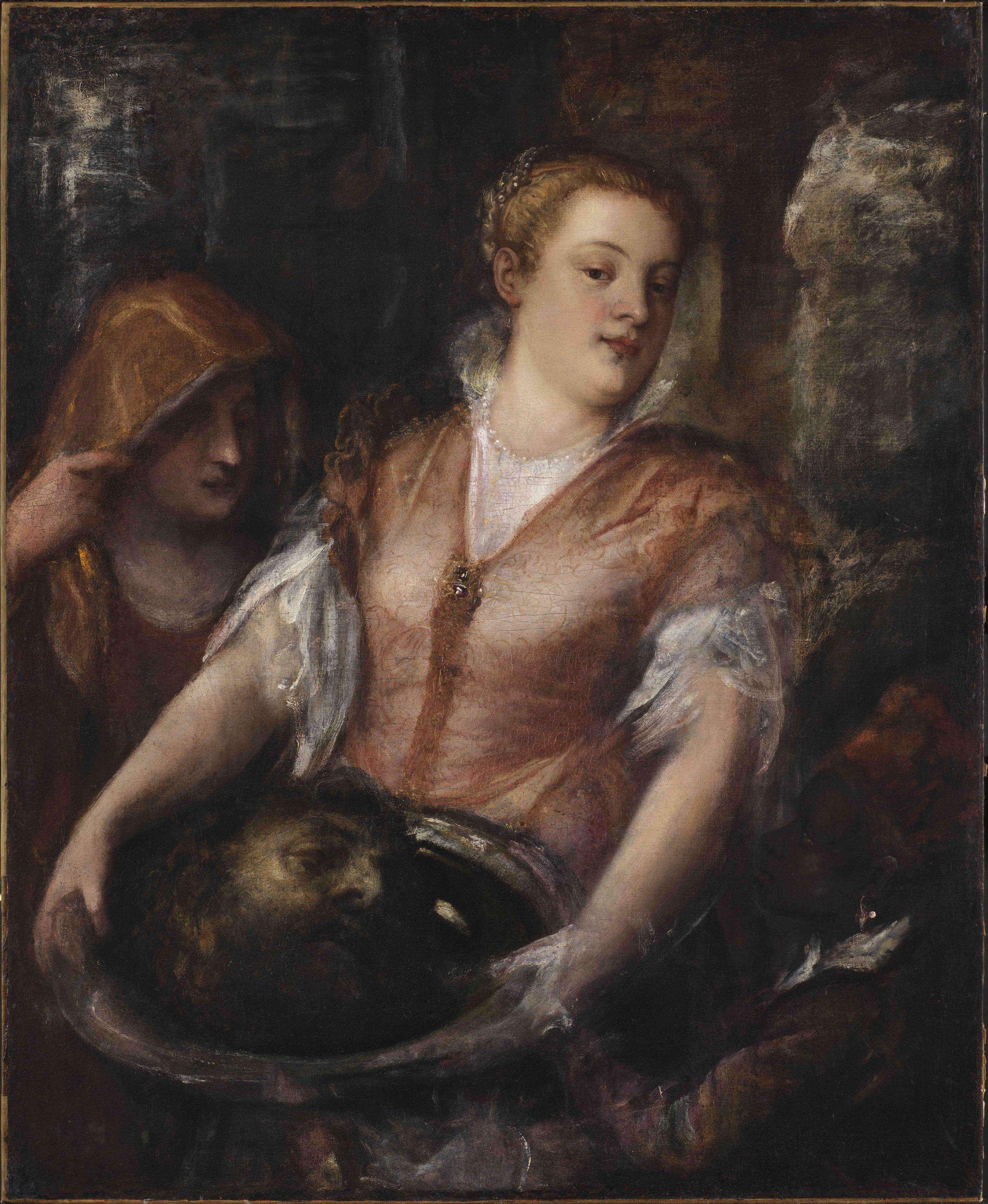 "Tiziano Vecelli, called Titian, ""Raczynski Herodias"" Nicholas Hall Art Gallery Dealer Old Masters"