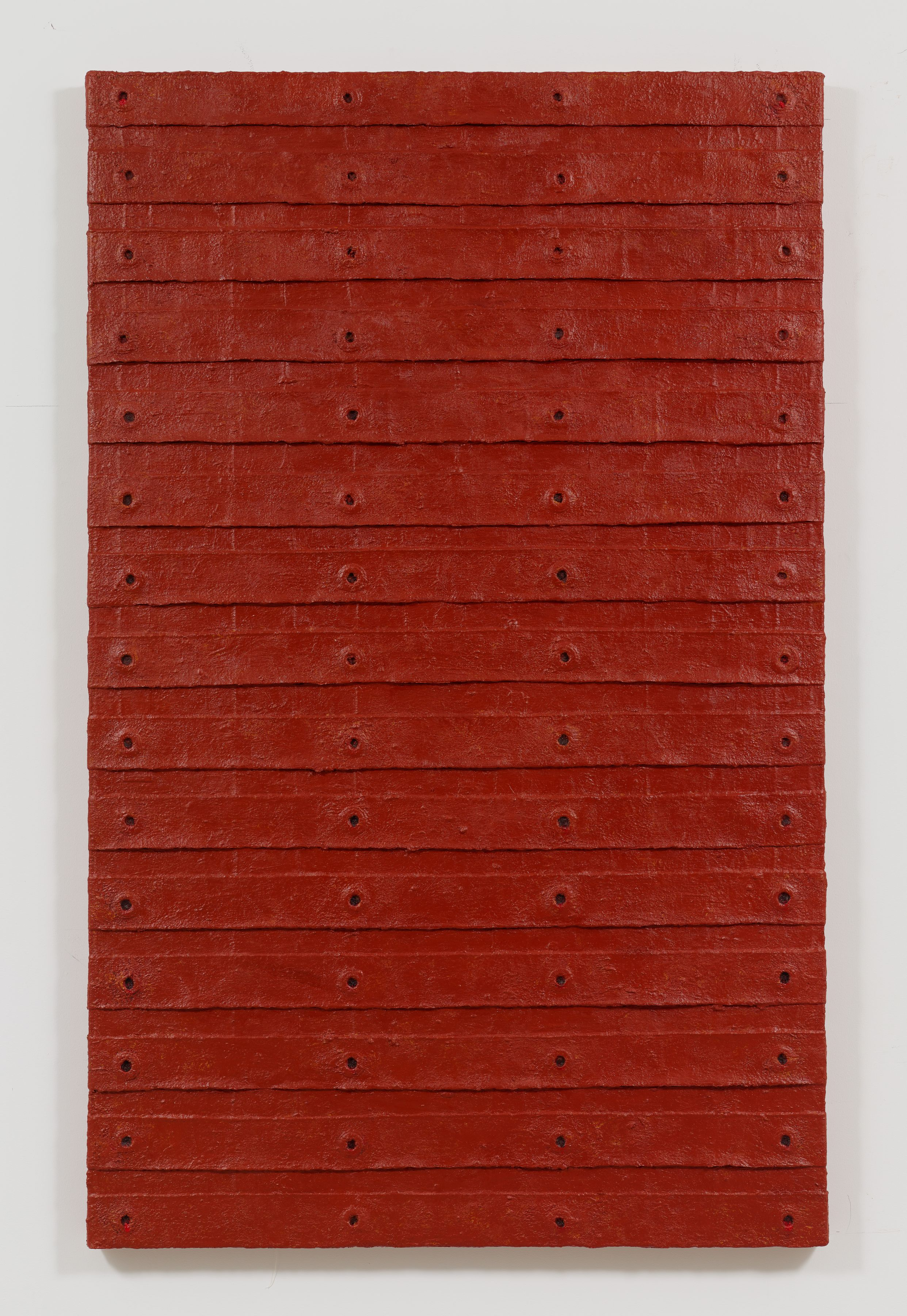 Red Stack, 2015, Oil and mixed media on canvas