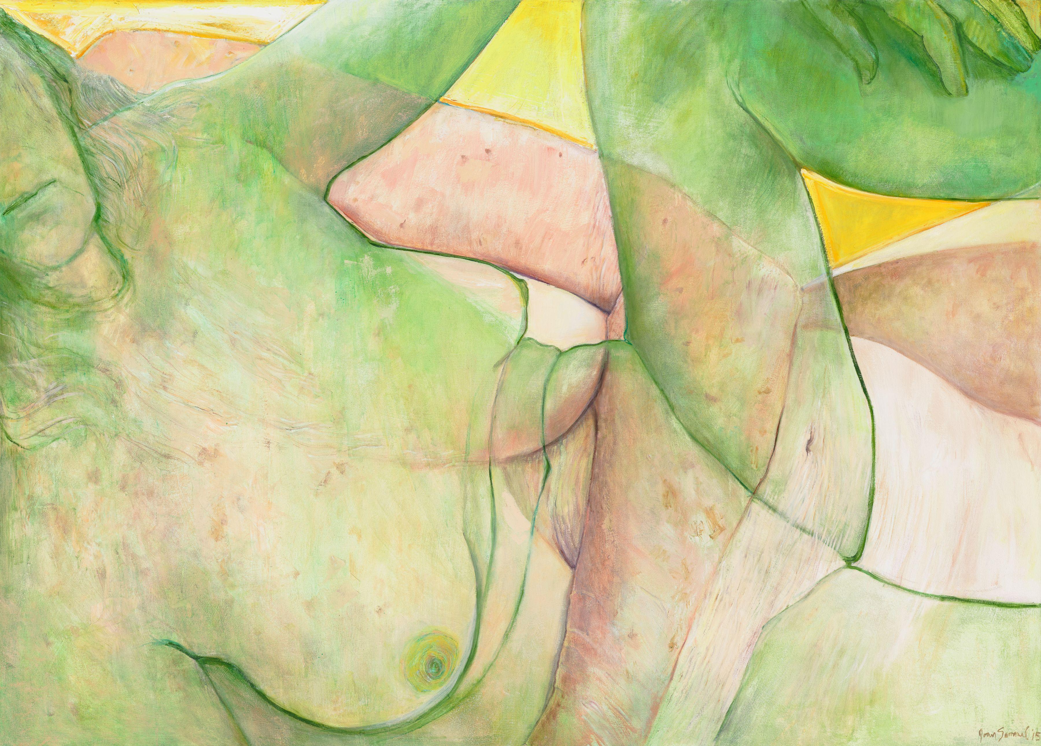 Joan Semmel, Yellow Sky, 2015