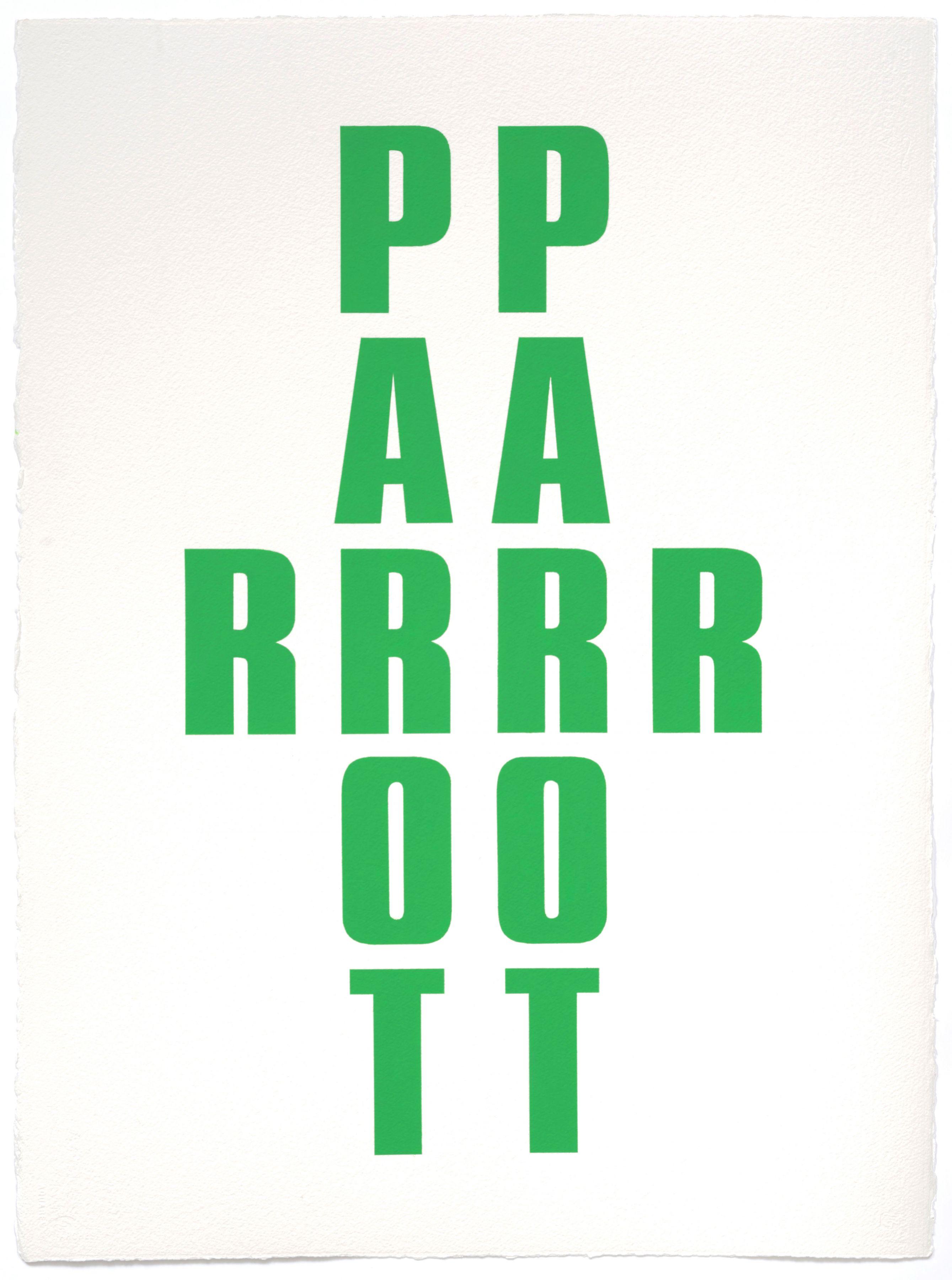 Kay Rosen, Parrot, 2013