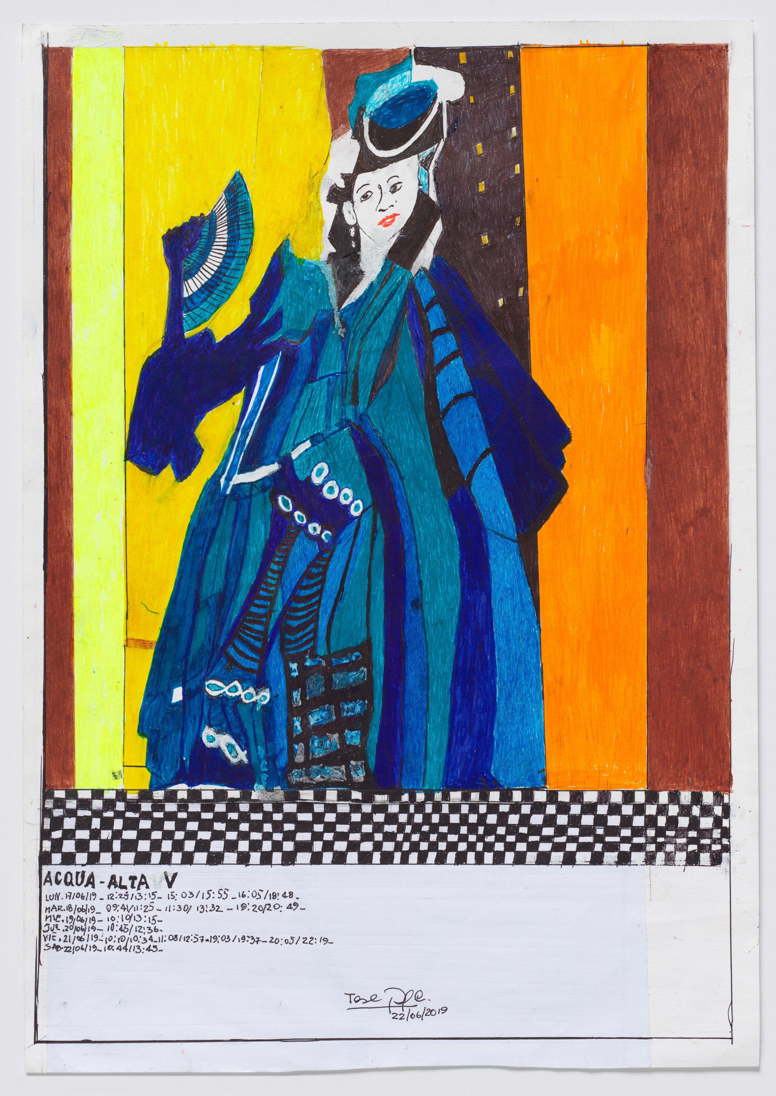 Teresa Burga, Untitled (Acqua Alta V), 2019