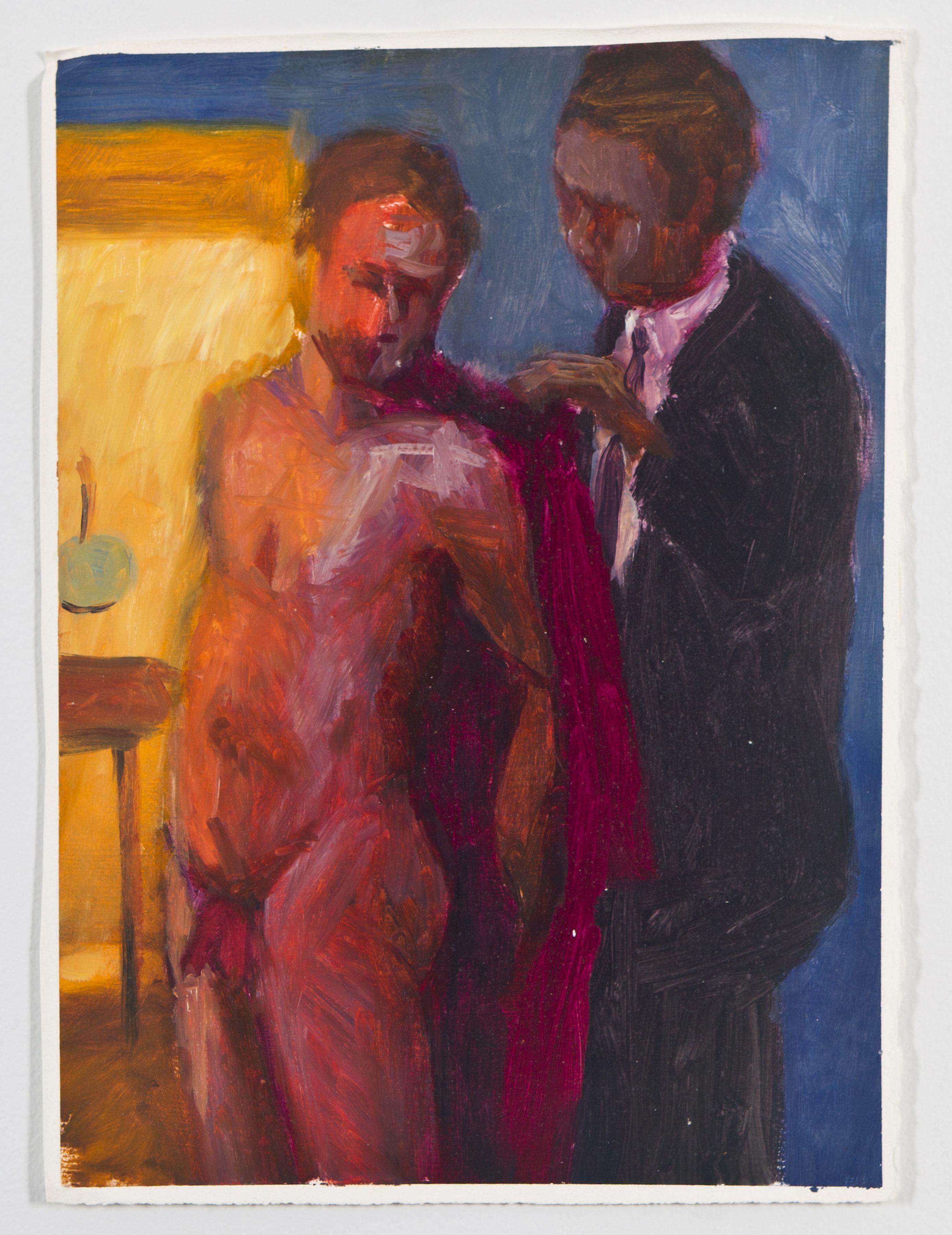 Robe Help, 1988, Oil on gessoed paper