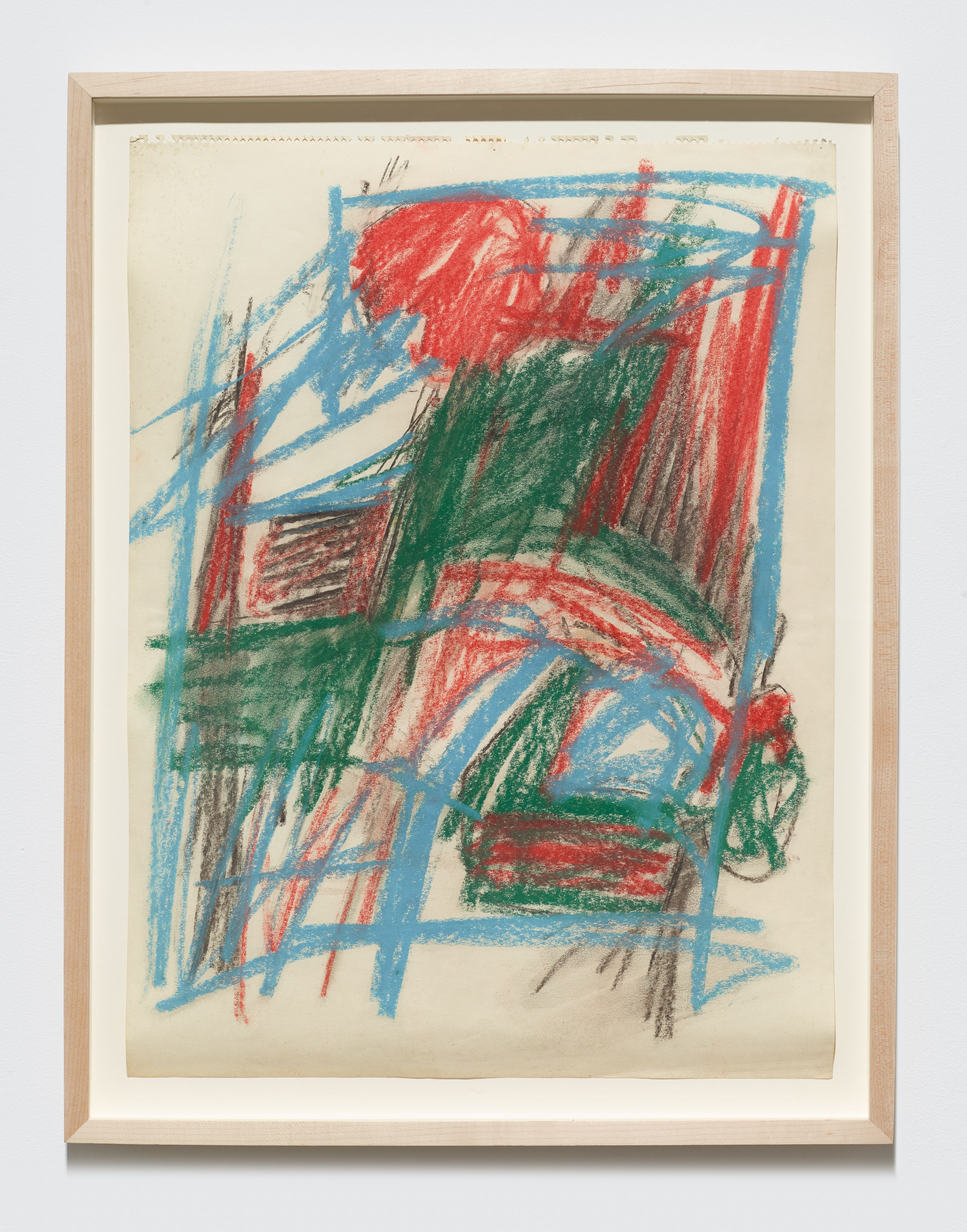 "Study for ""Barrier Series"", c. 1961, Oilstick on paper"