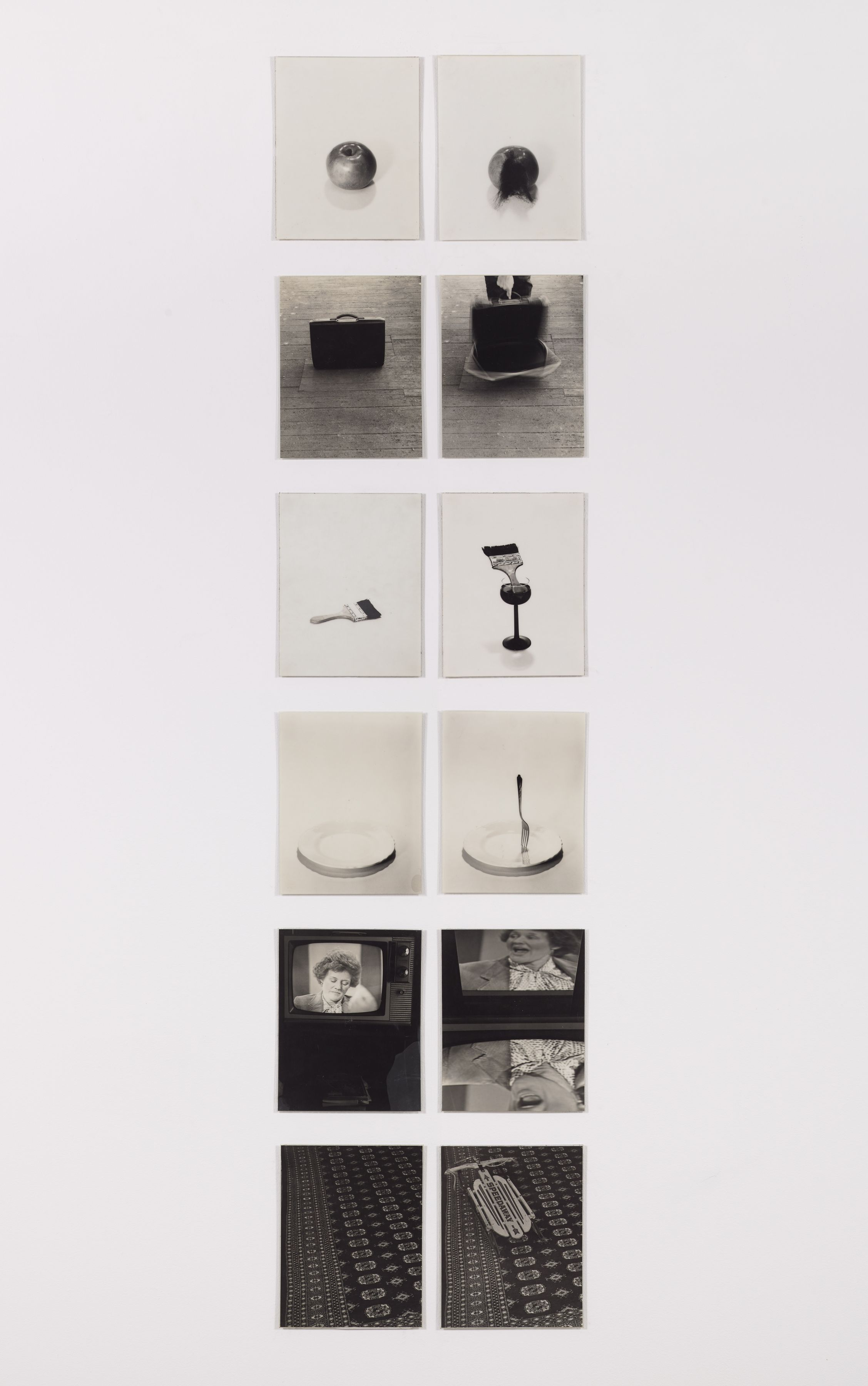 Questions and Answers, 1981, Laminated silver gelatin prints, 11h x 8.19w in (27.94h x 20.80w cm)