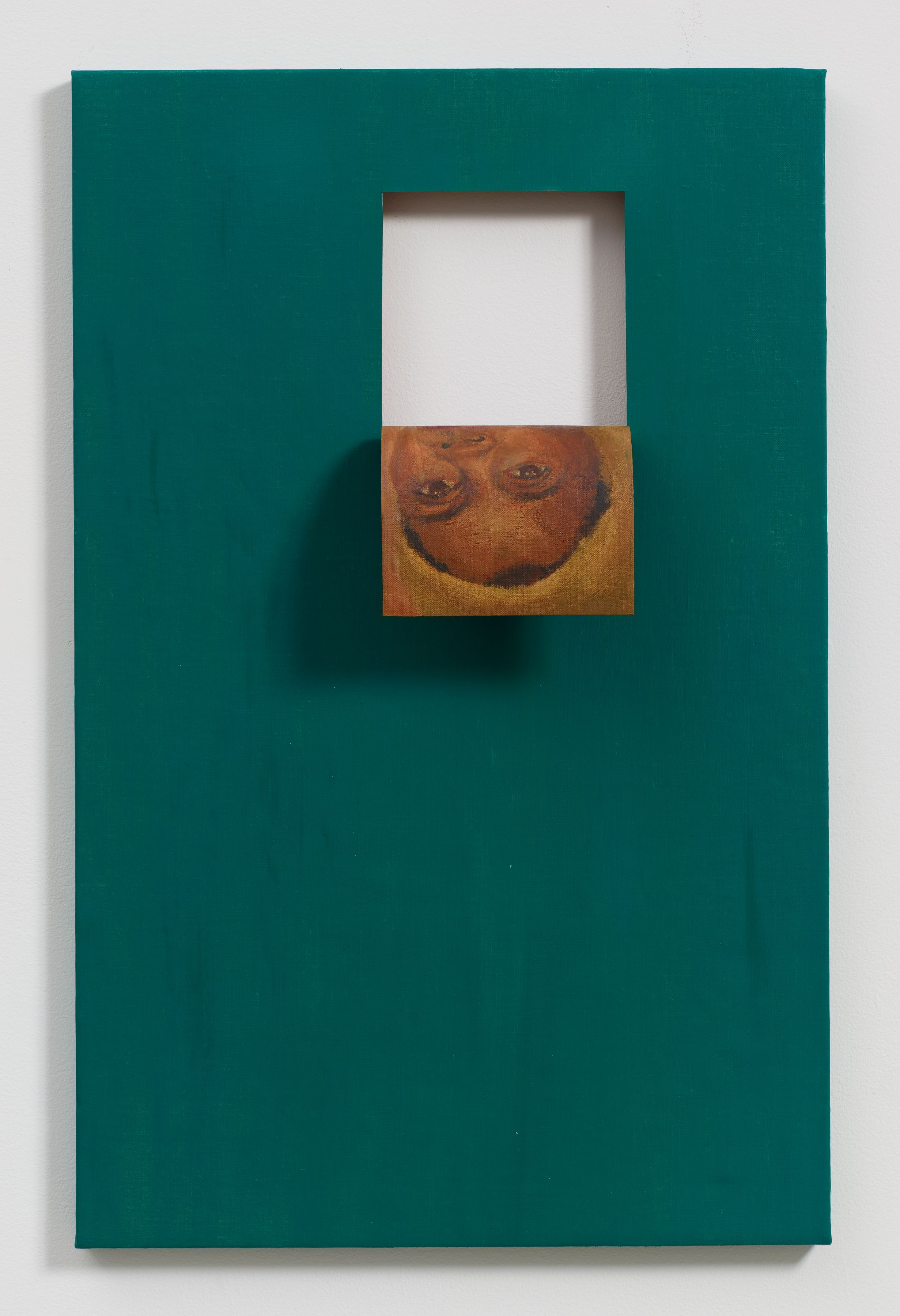 Valeska Soares, Doubleface (Cobalt Green), 2017