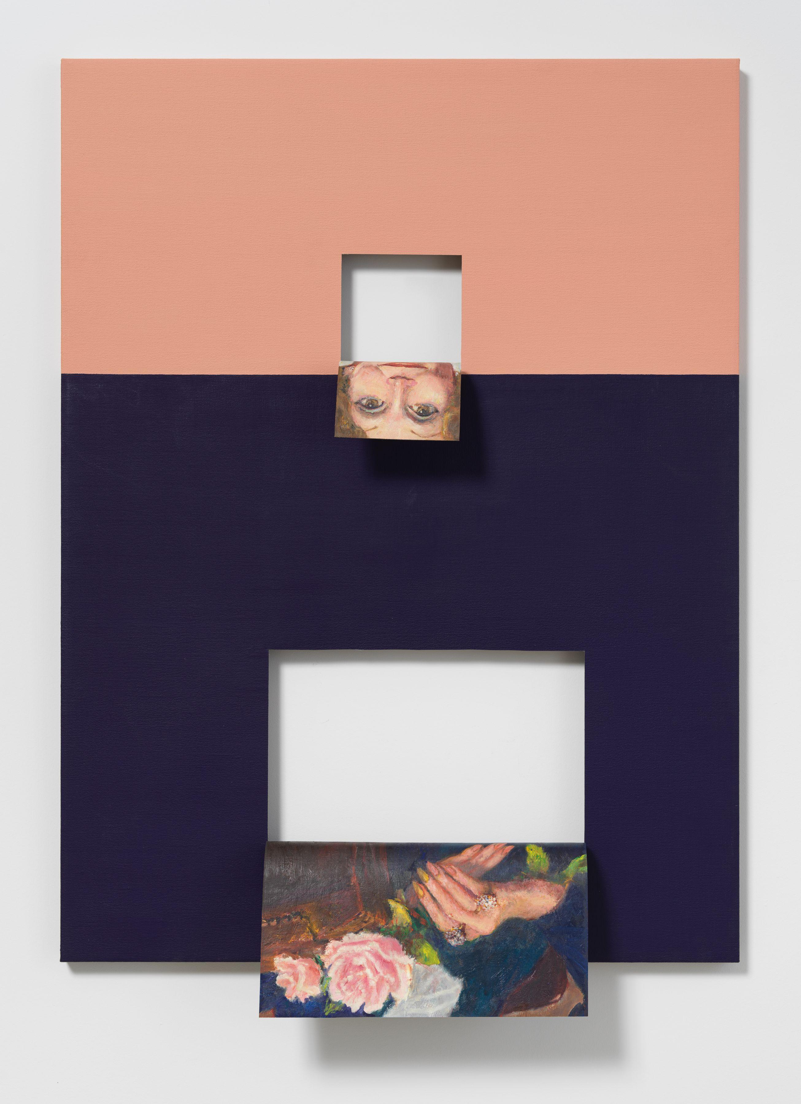 Valeska Soares, Doubleface (Permanent Rose/Ultramarine Blue-Phthalo Blue), 2019