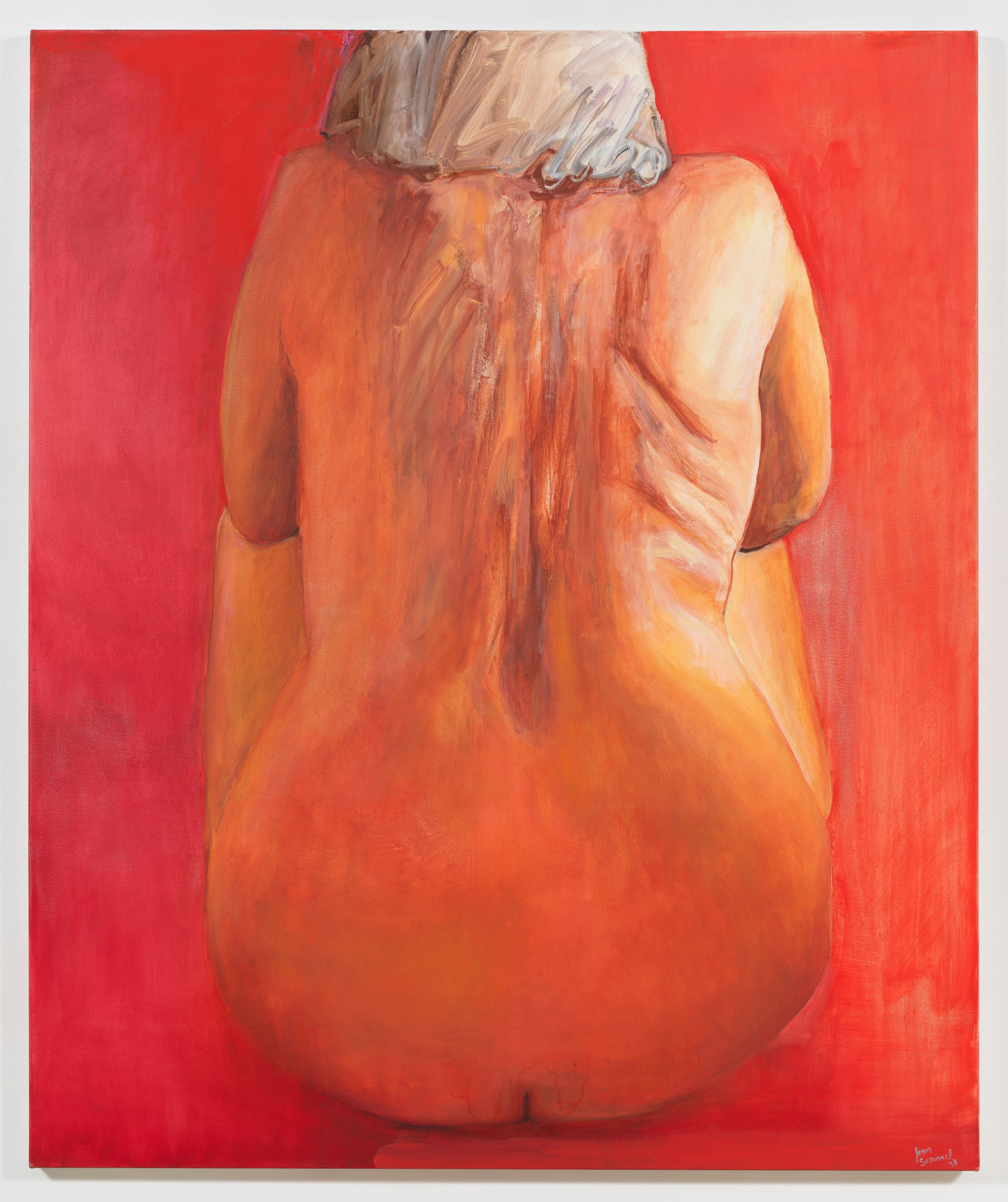 Seated in Red, 2018, Oil on canvas