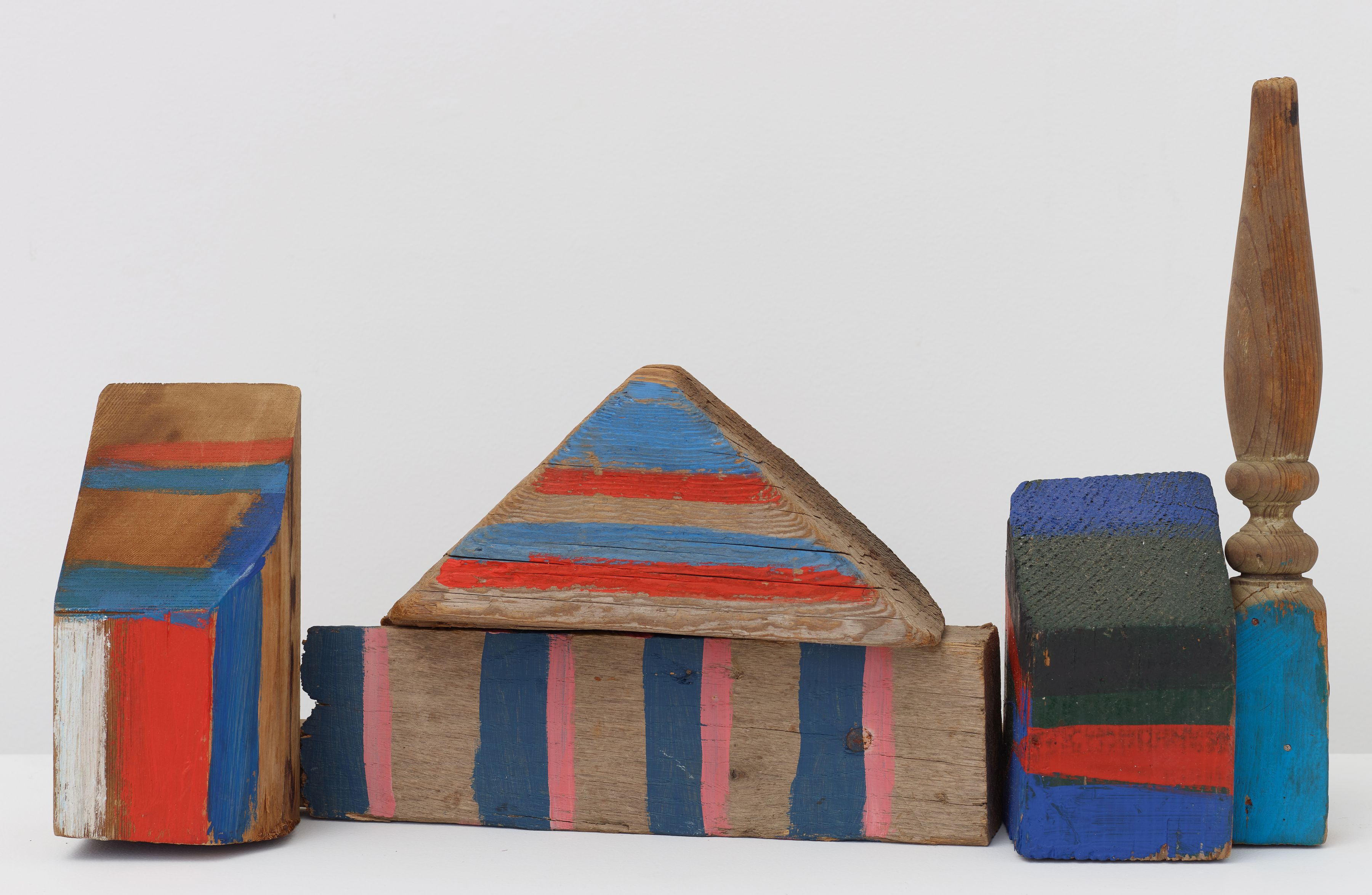 African Village, 1981, Wood, paint, and hardware