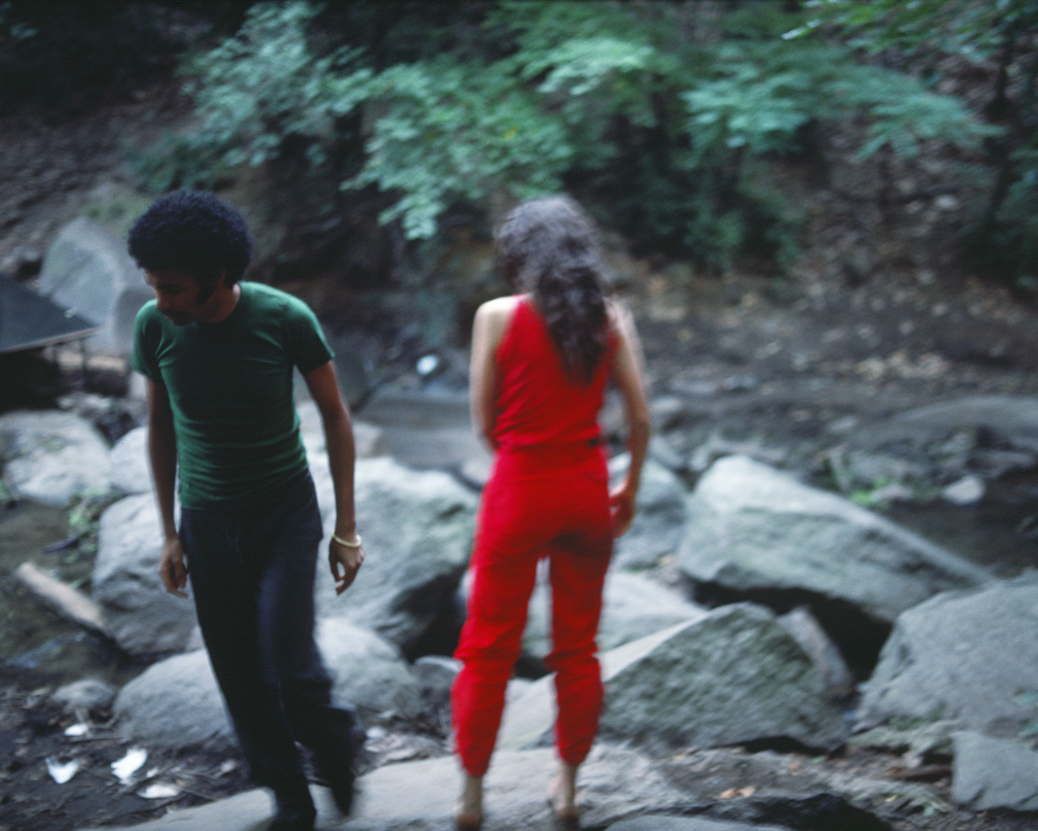 Rivers, First Draft: The Young Man pulls away, 1982/2015, Digital C-print from Kodachrome 35mm slides in 48 parts, 16h x 20w in (40.64h x 50.80w cm)