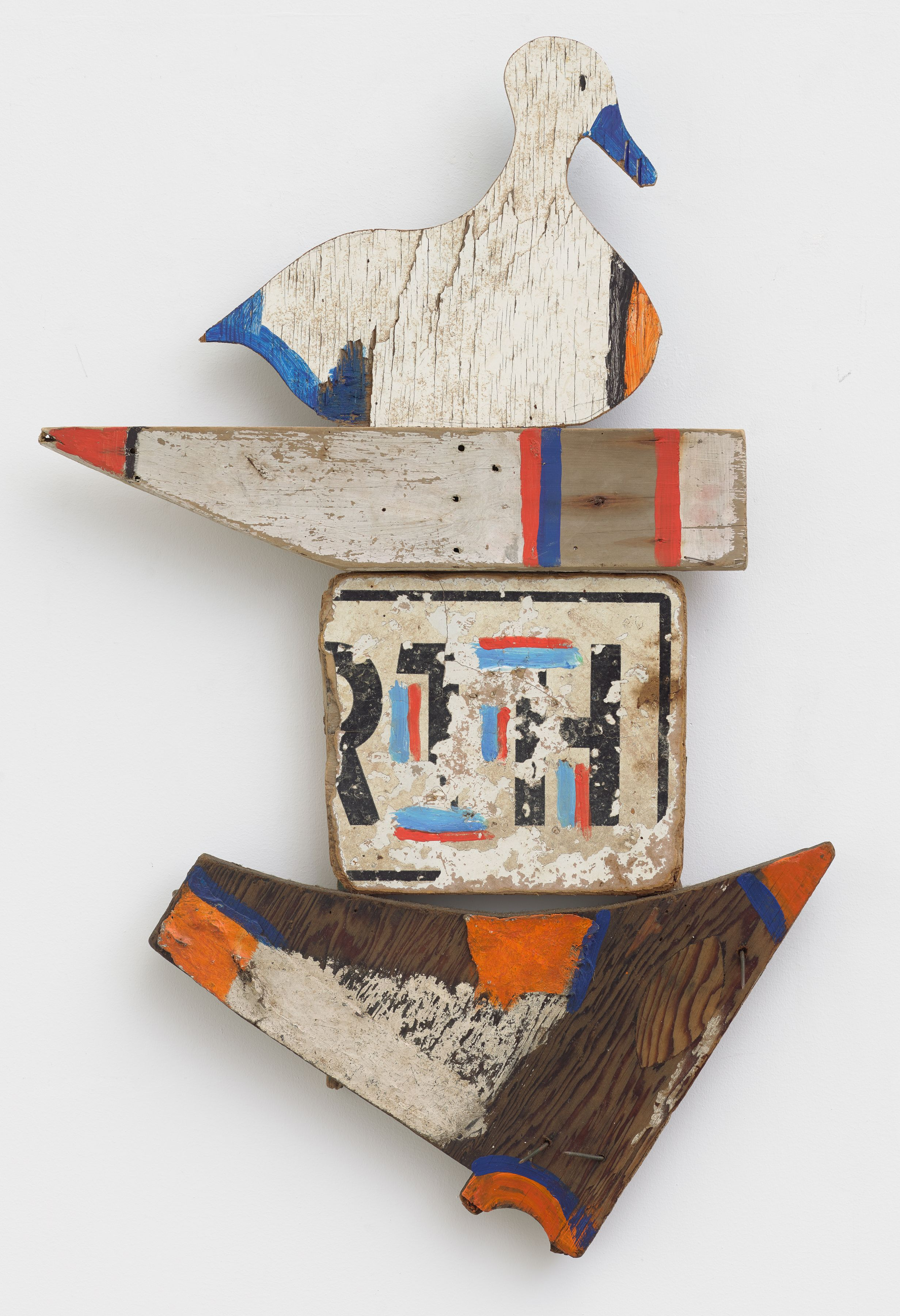 Flying Duck, 1981, Wood, paint, and hardware