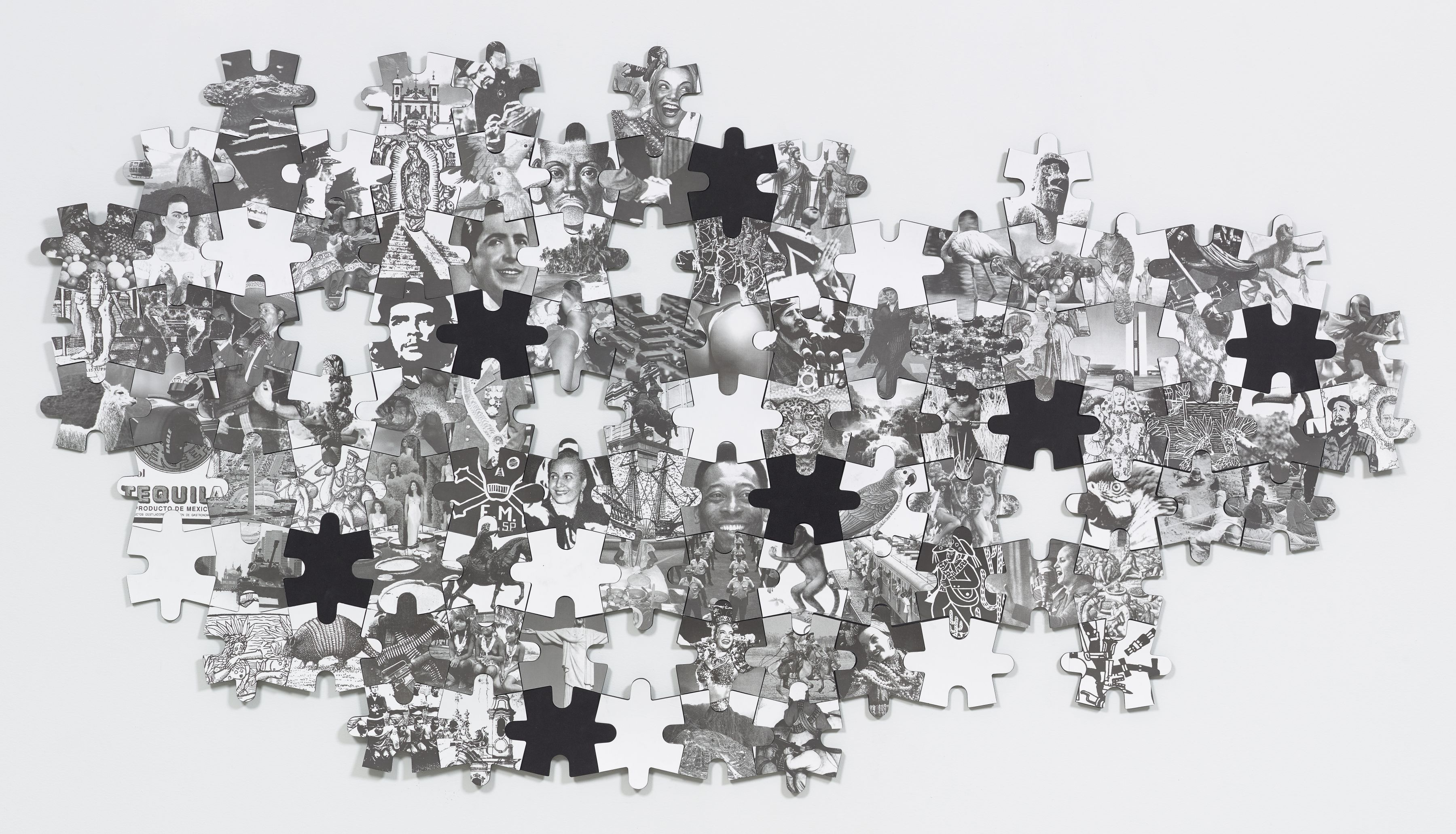 Regina Silveira, To be continued... (Latin American Puzzle), 2001, Lithography & Serigraphy
