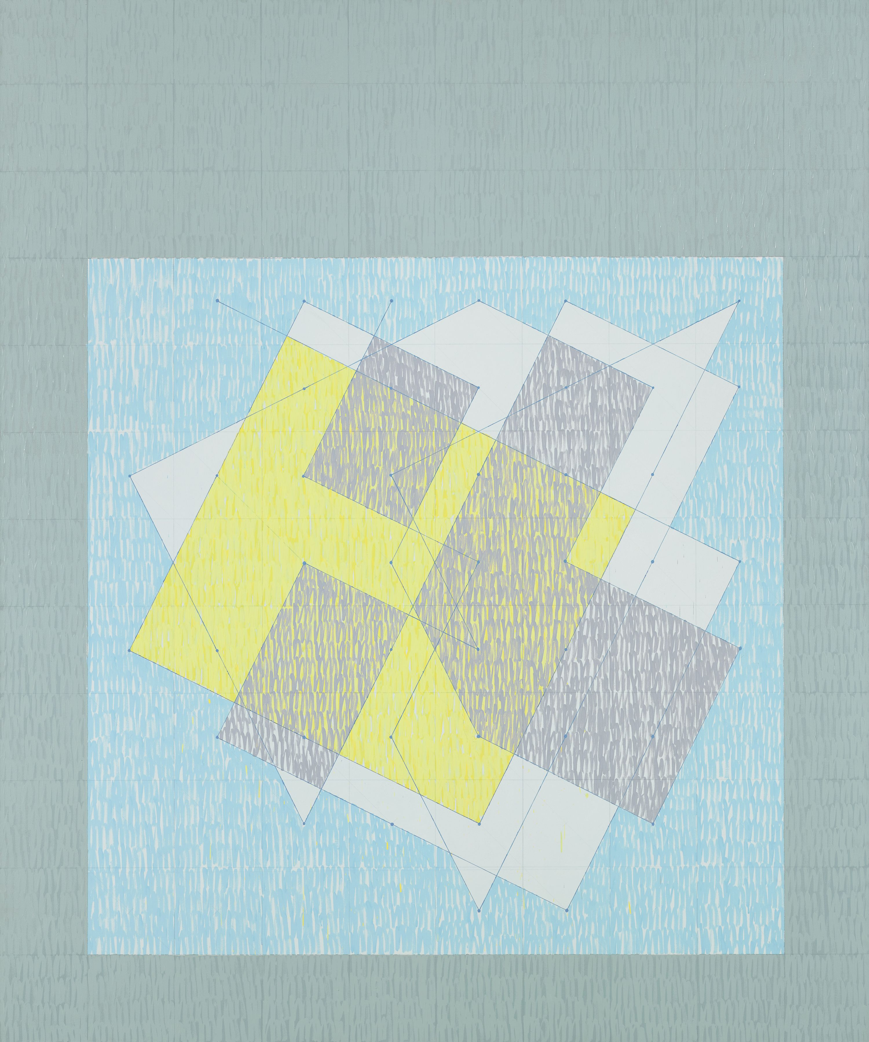 Knight Series #3 (Q3-75 #4), 1975, Oil on canvas