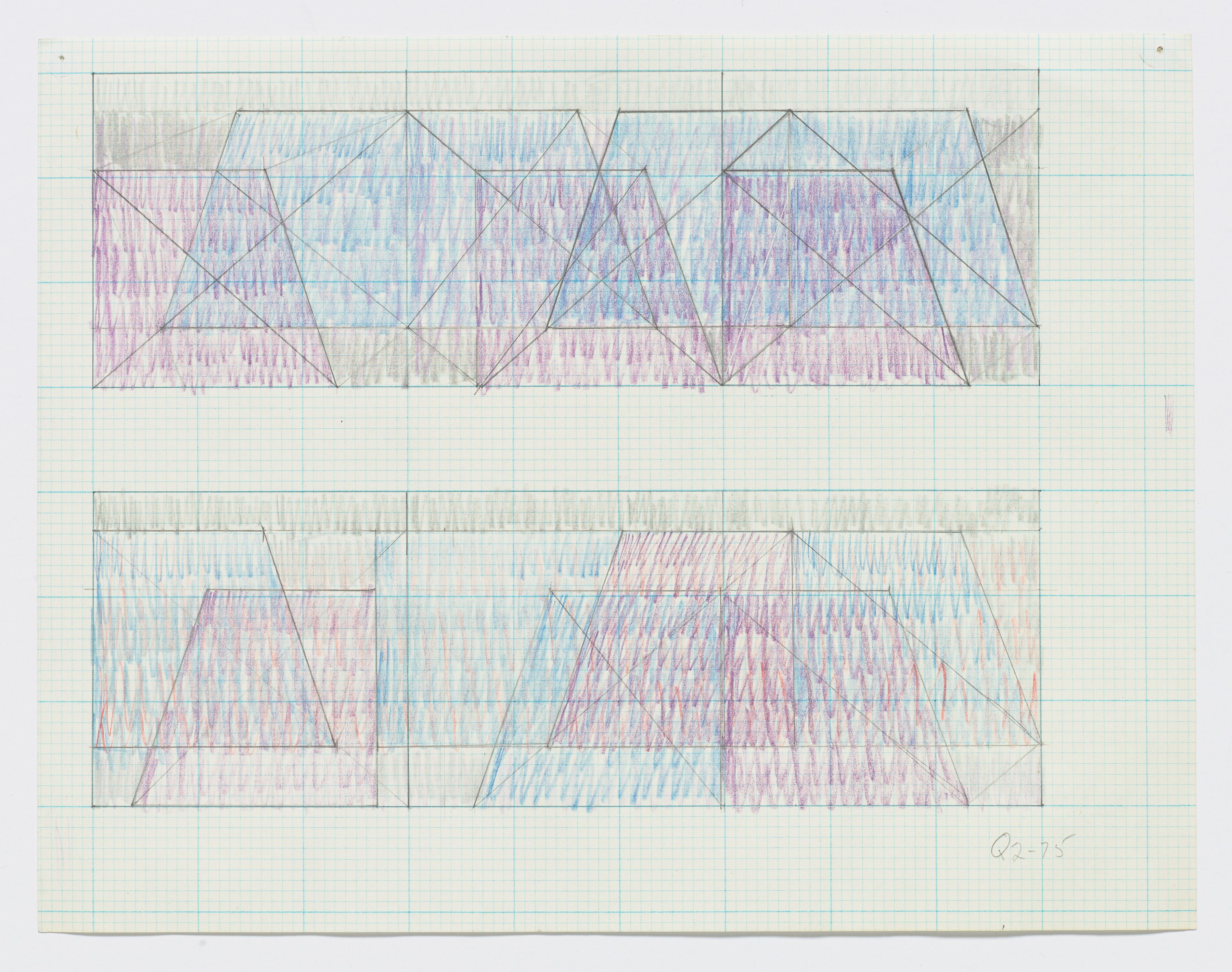 "Jack Tworkov, Q2-75 (Two sketches for ""Triptych""), c. 1975"