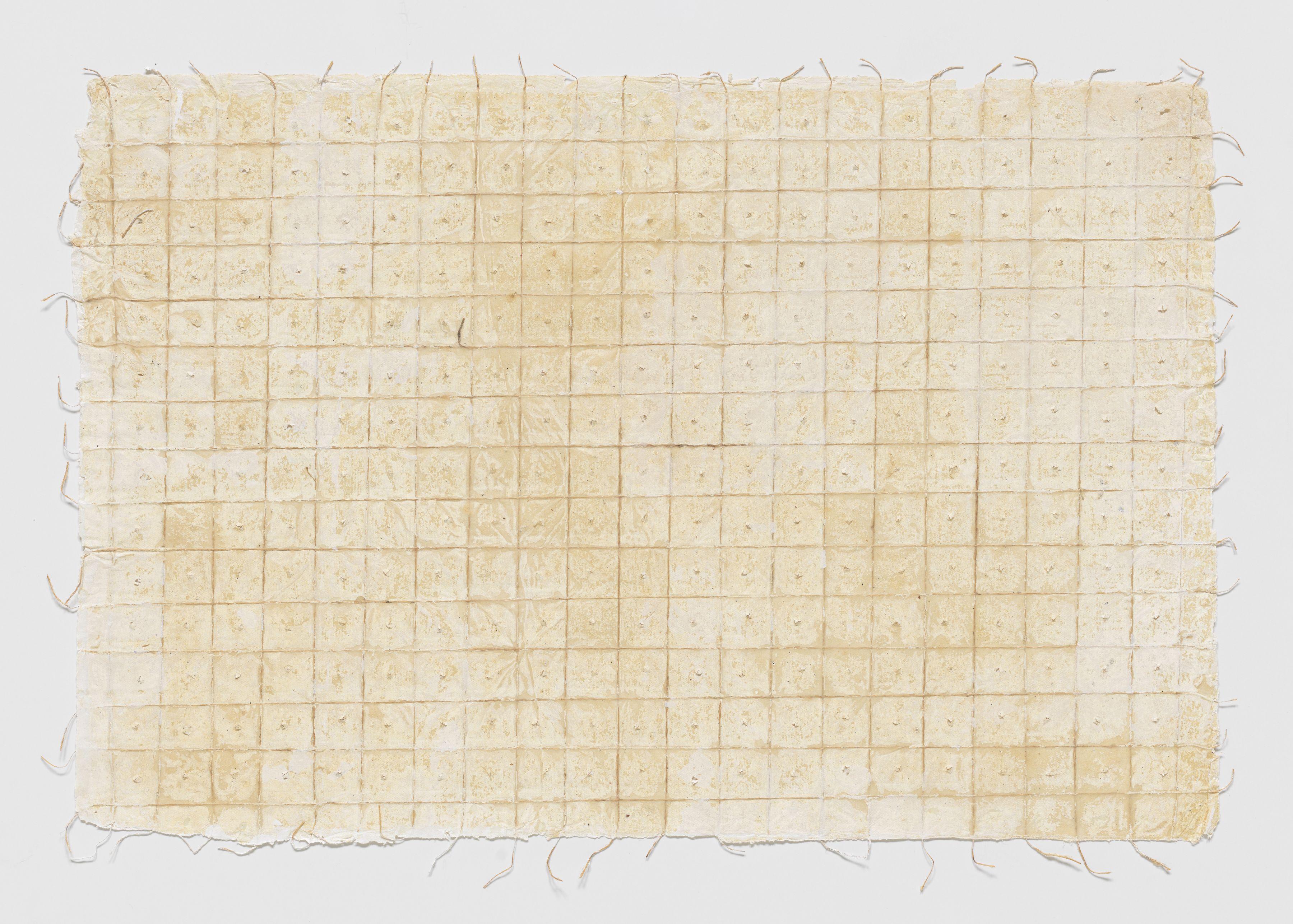 Extended Grid #2, 2017, Printing ink on handmade paper