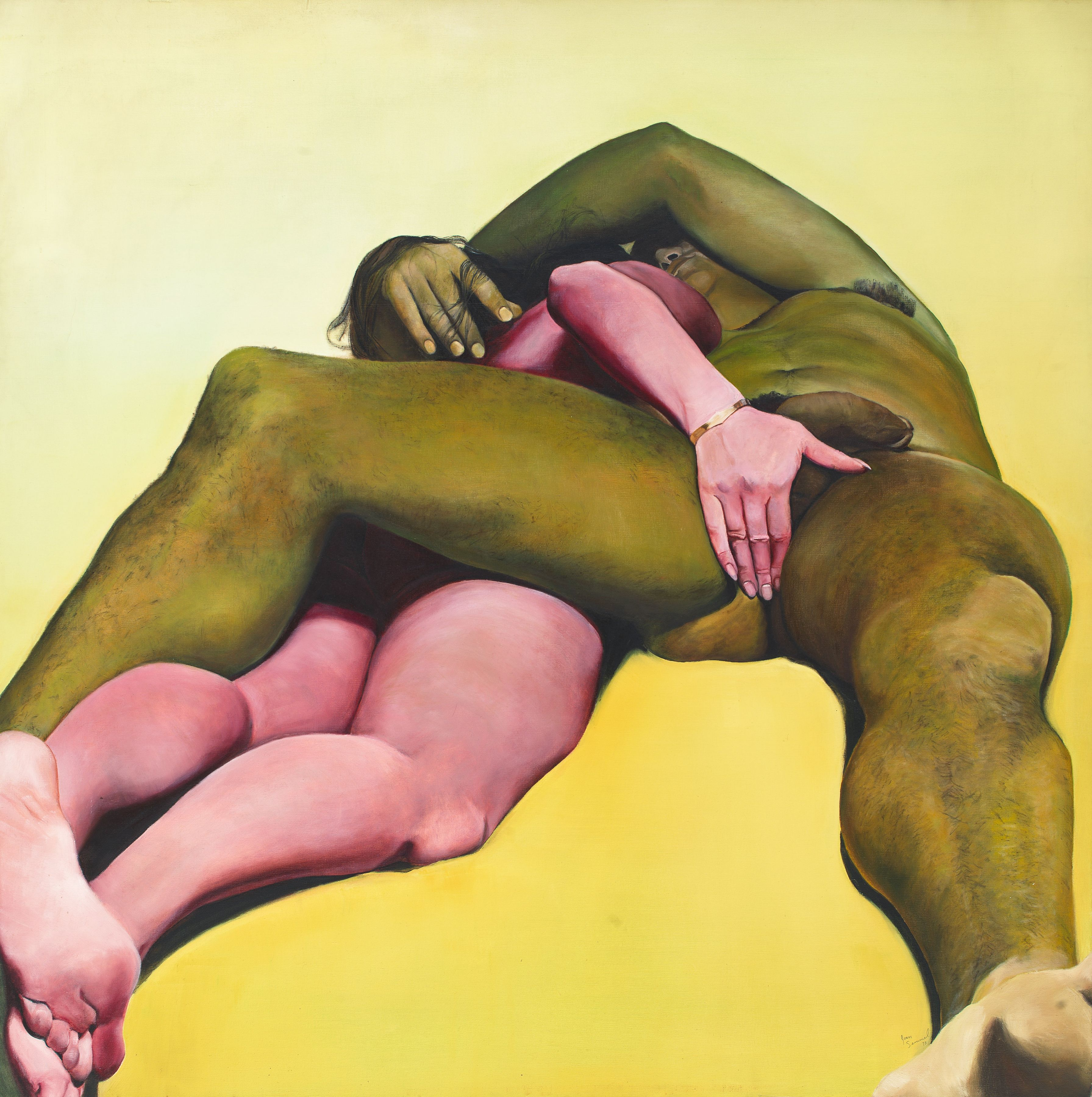 Erotic Yellow, 1973, Oil on canvas