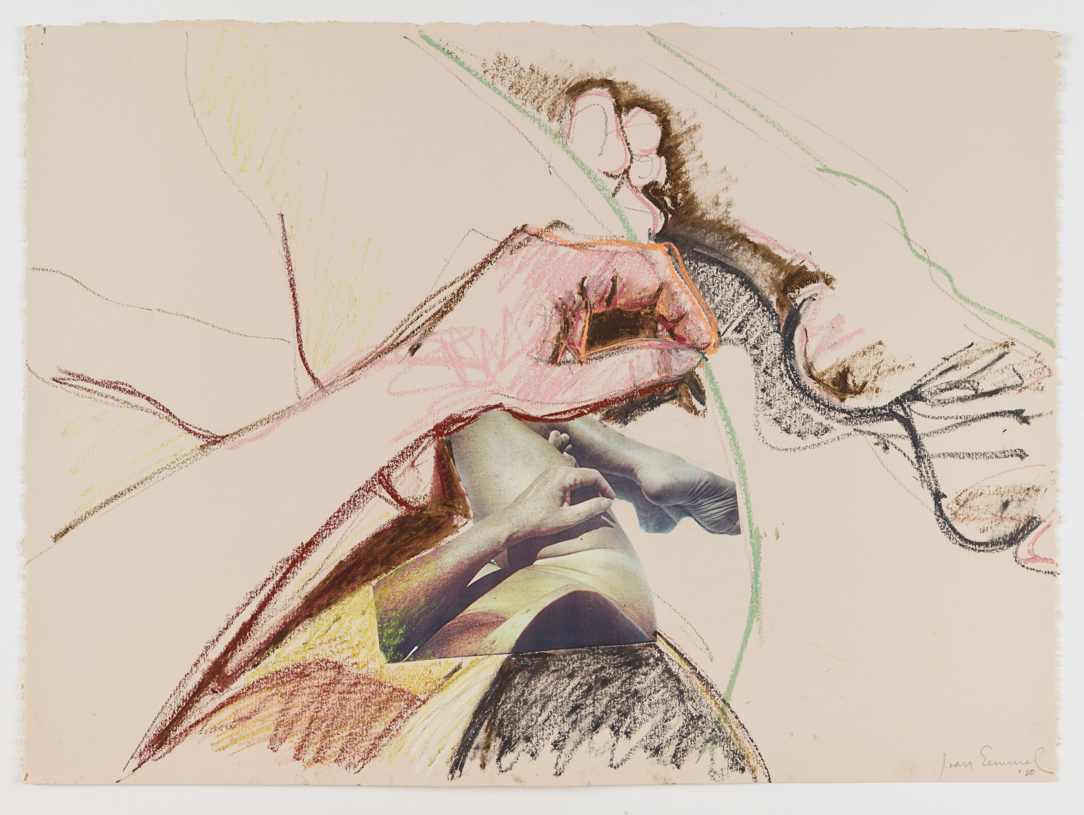 Untitled, 1980, Oil crayon and collage on paper