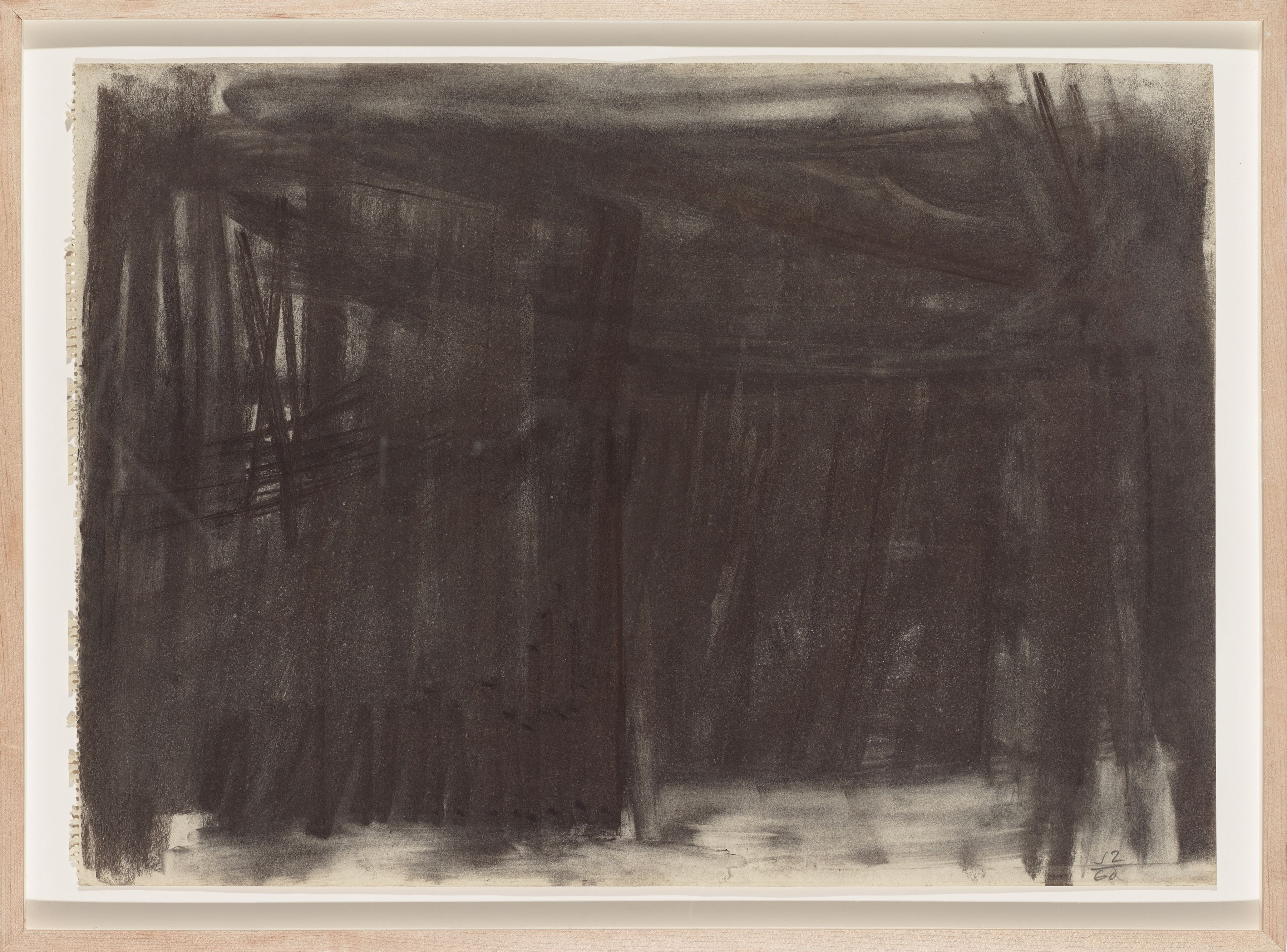 ACD #6, 1960, Charcoal on paper