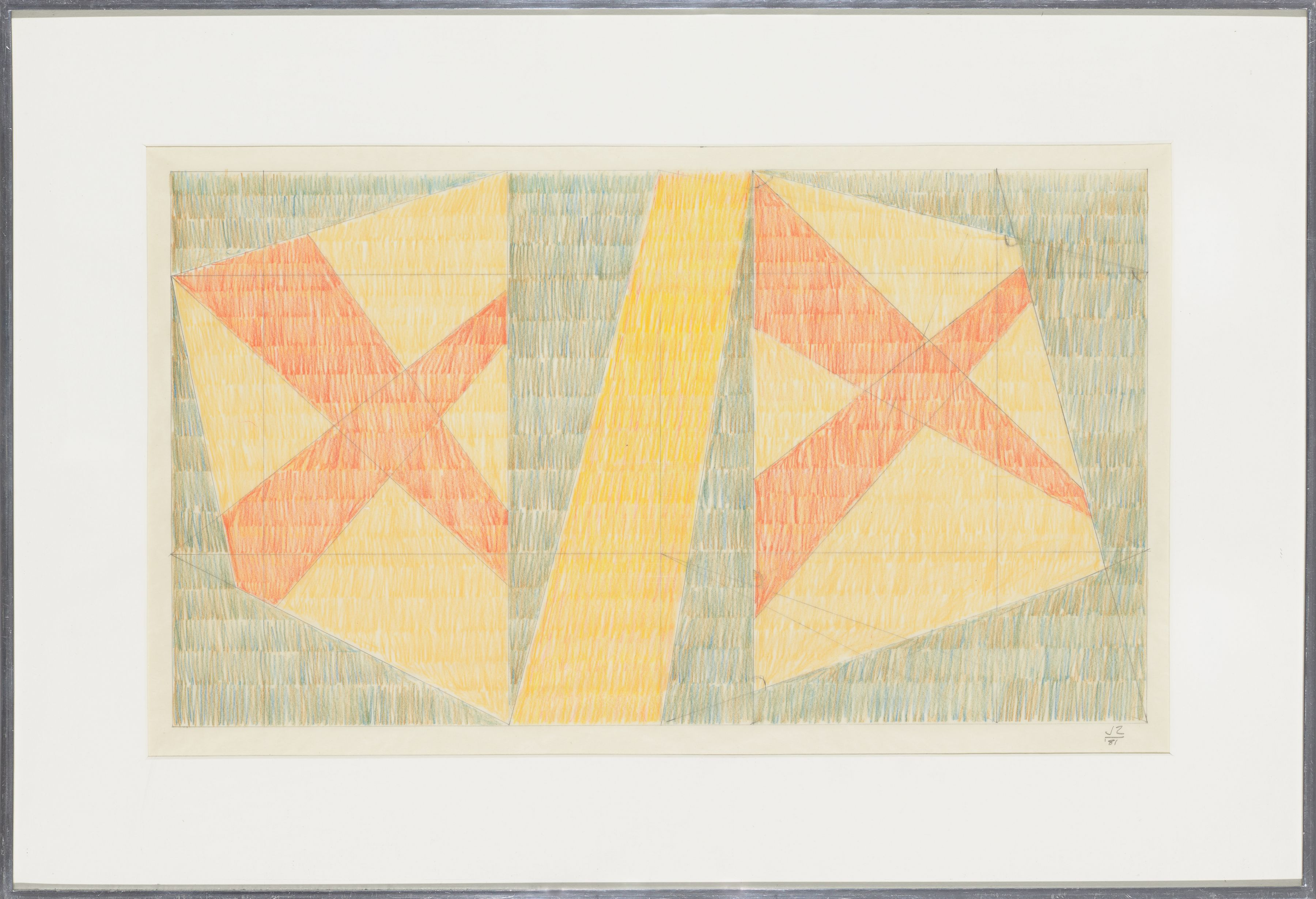 Untitled H, 1981, Colored pencil on vellum