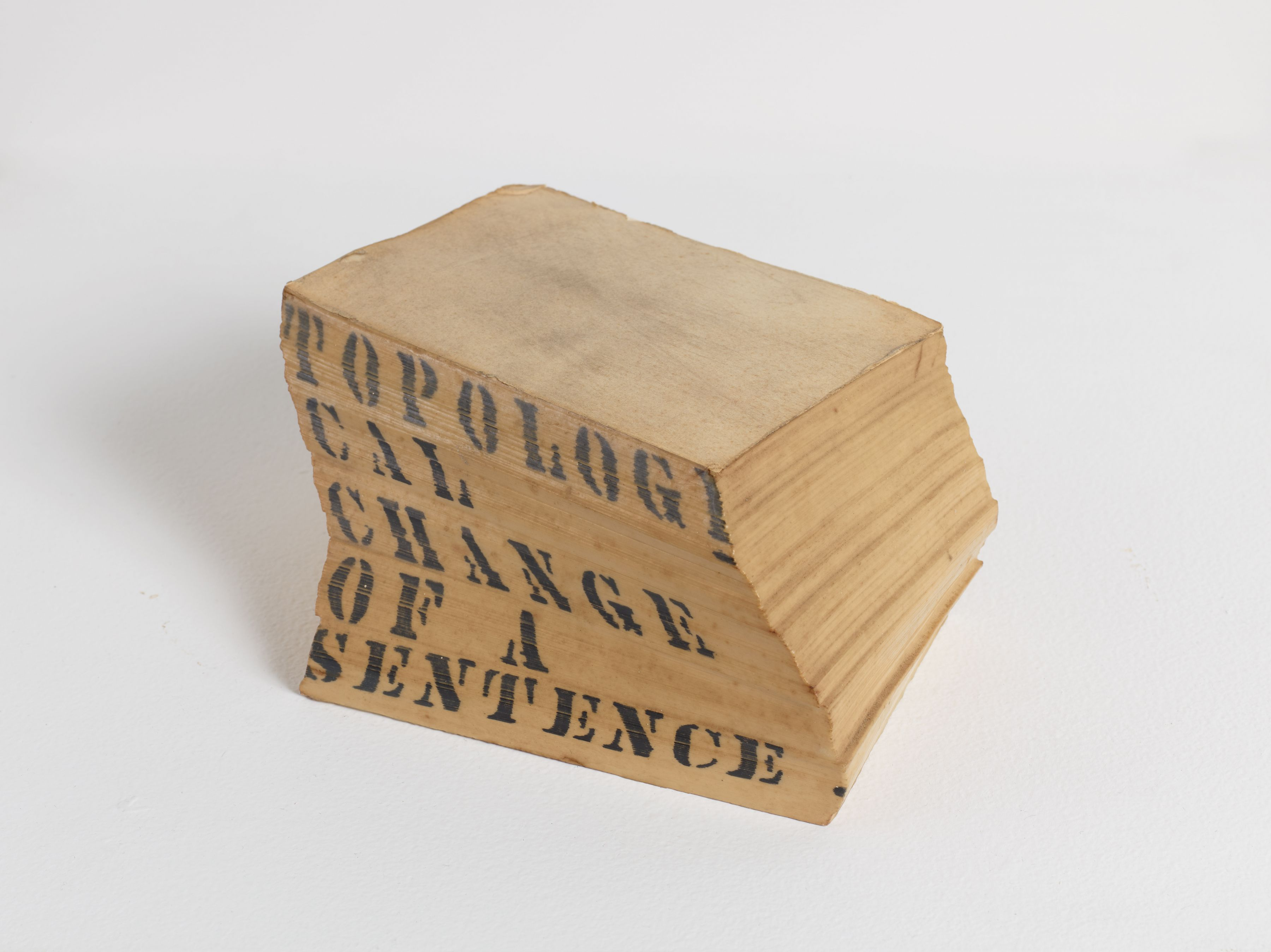 Luis Camnitzer, Topological Change of a Sentence, 1966