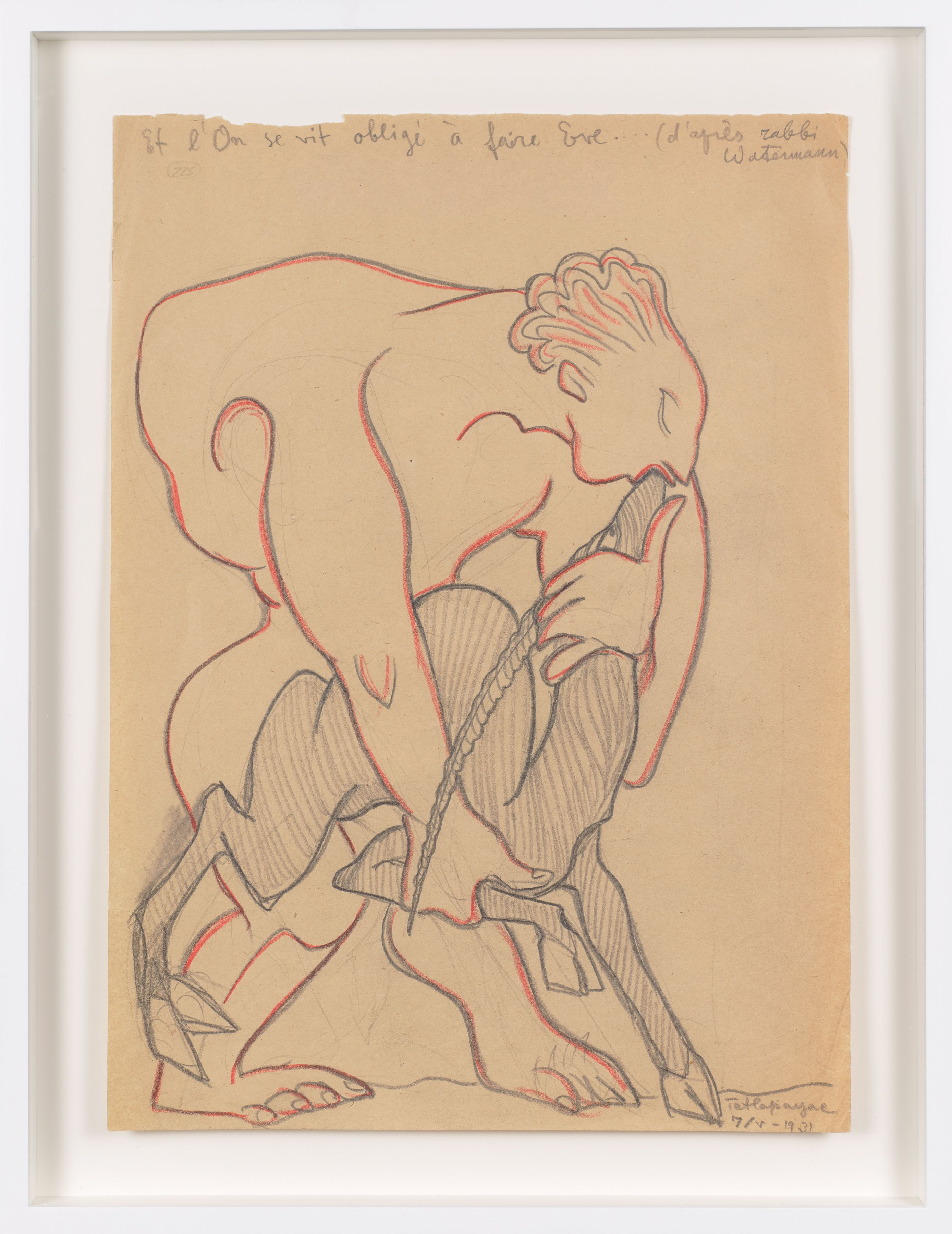 Untitled (1931) Colored pencil on paper