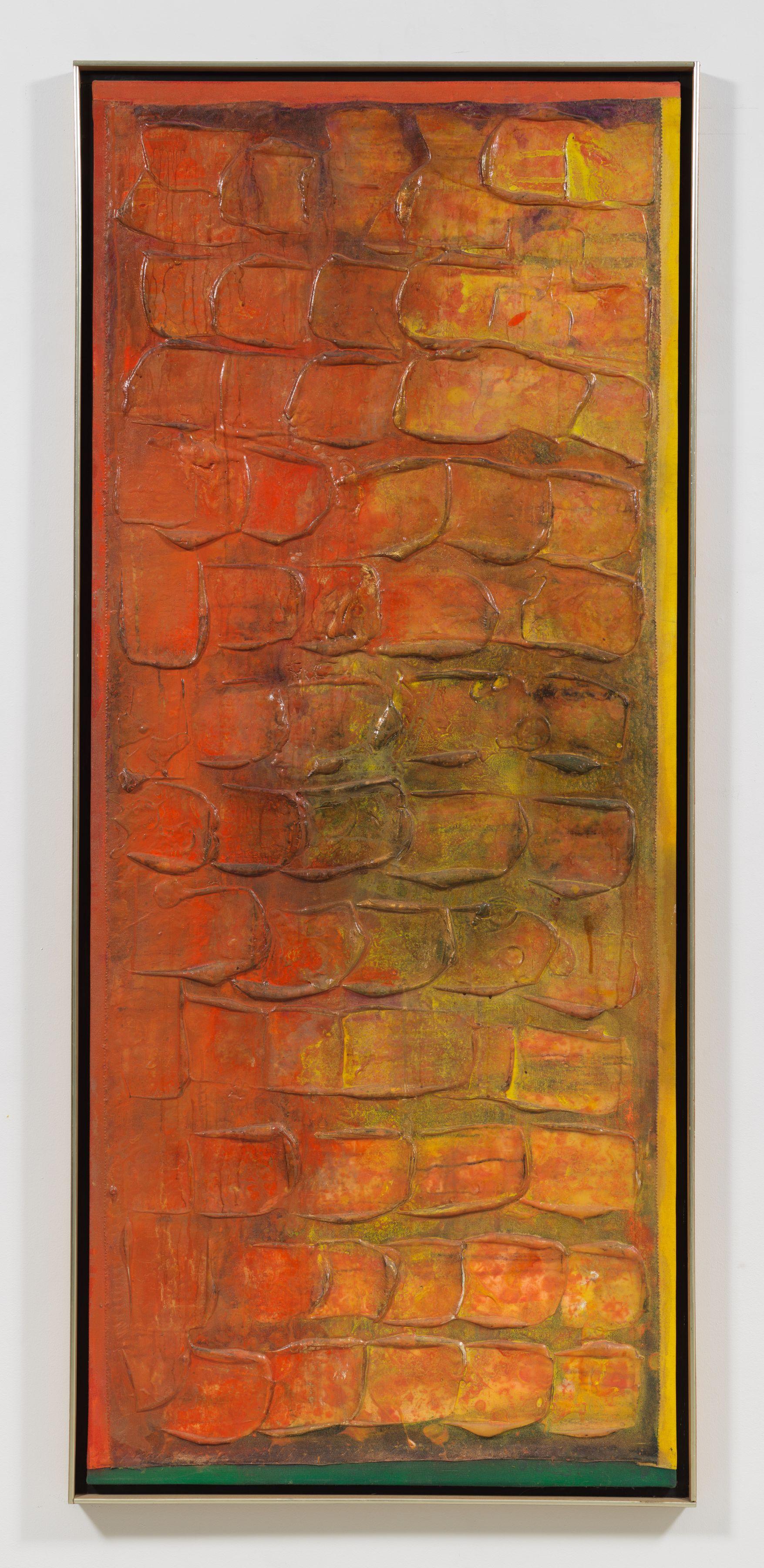 Dawnshoot, 1991 Acrylic on collaged canvas