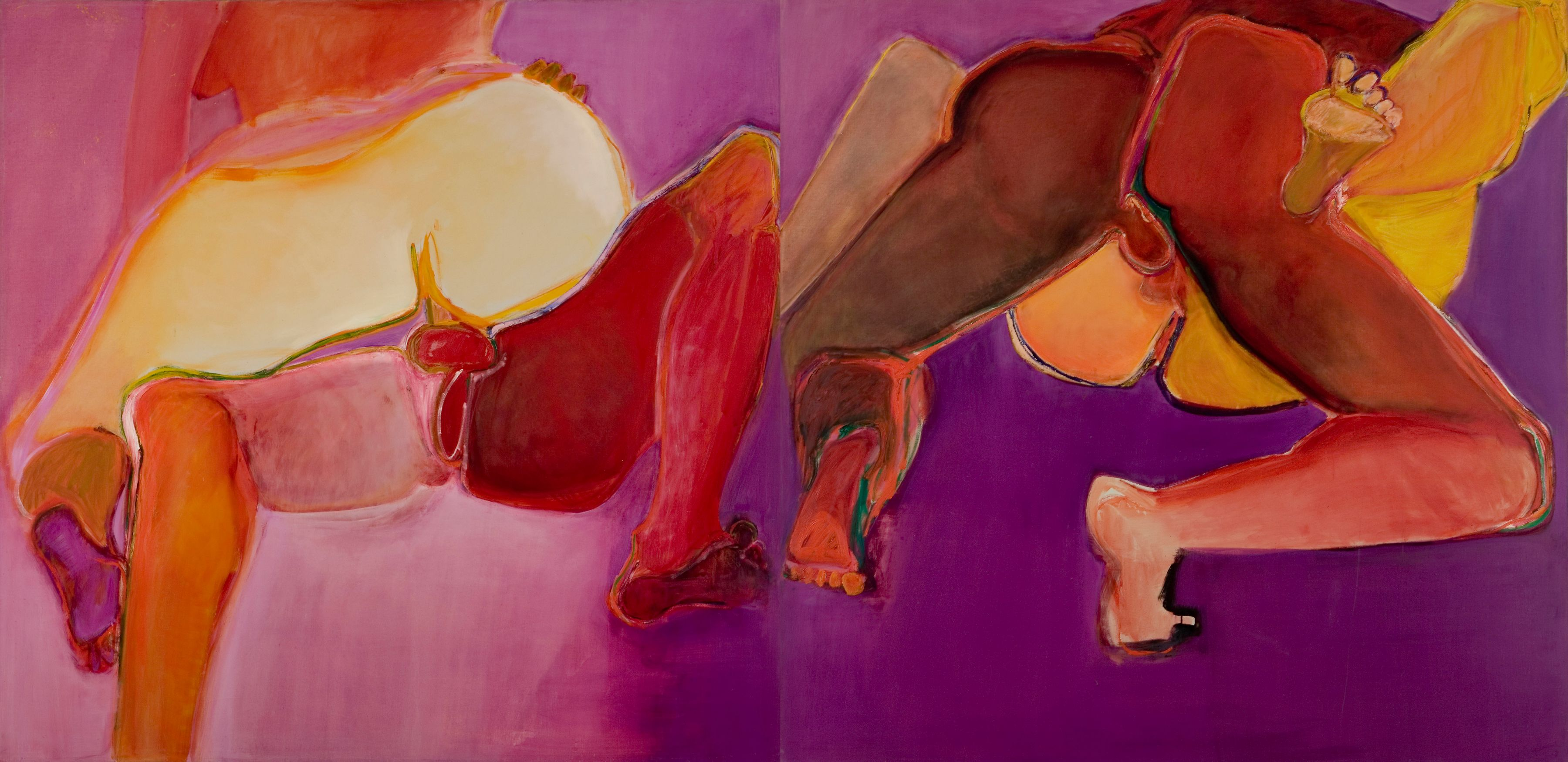 Flip-Flop Diptych, 1971, Oil On Canvas