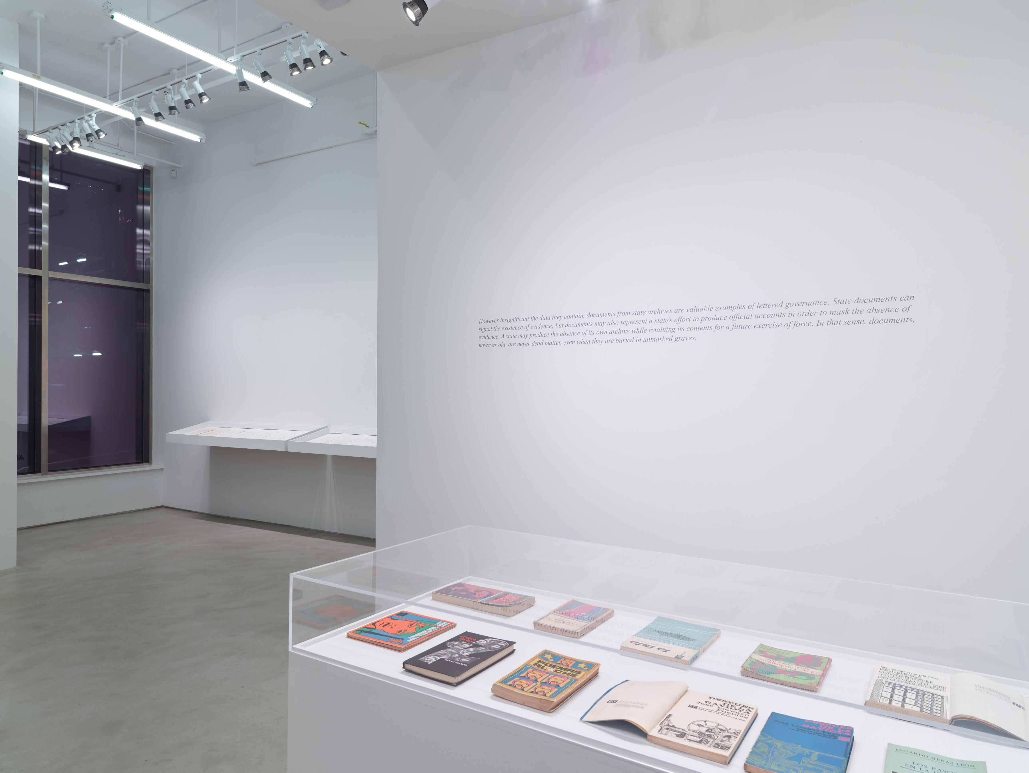 C O N F I D E N C I A L, AUTORES FIRMANTES, 2015Installation view, Alexander Gray Associates, 2016