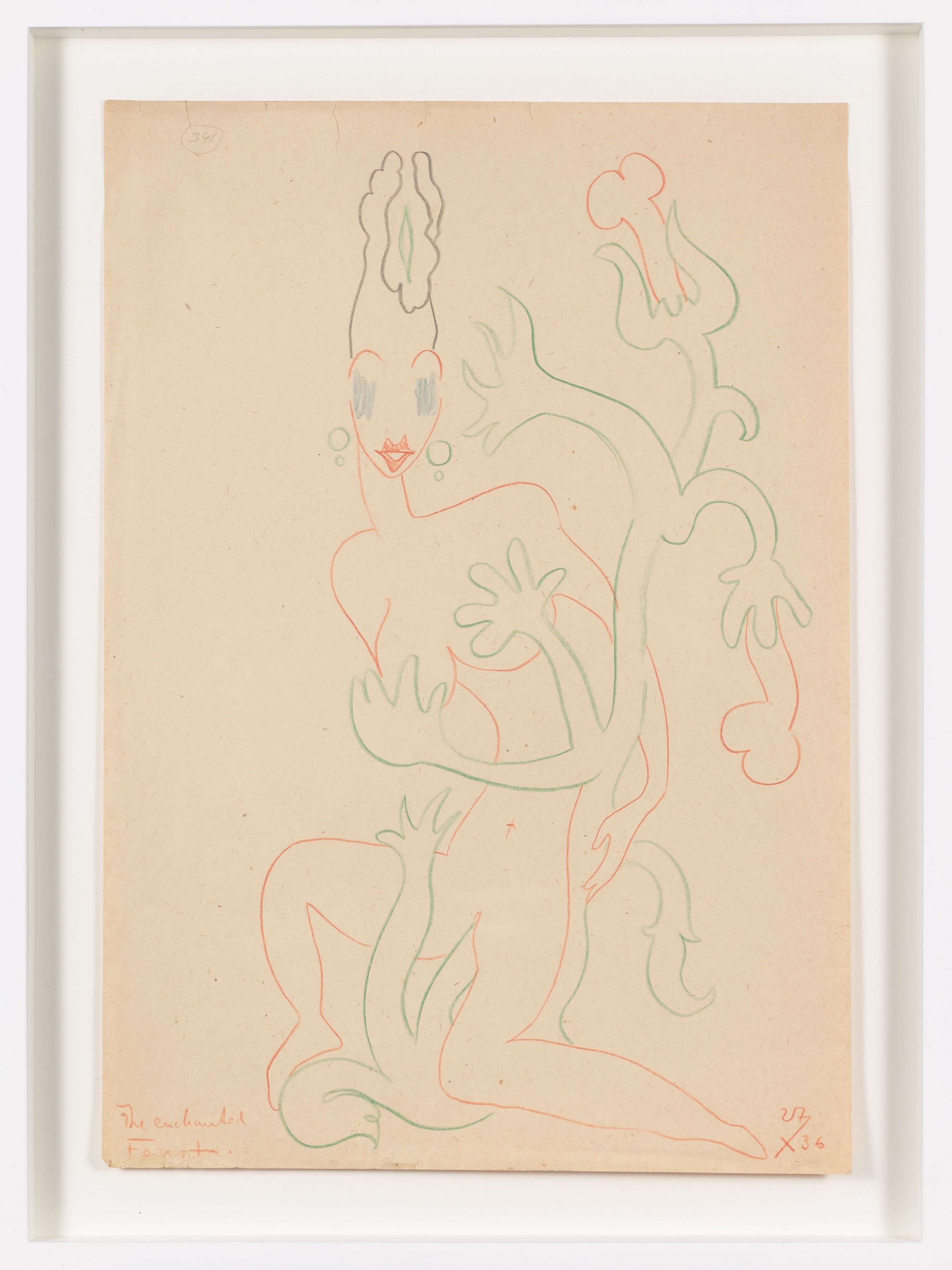 Untitled (1936) Colored pencil on paper