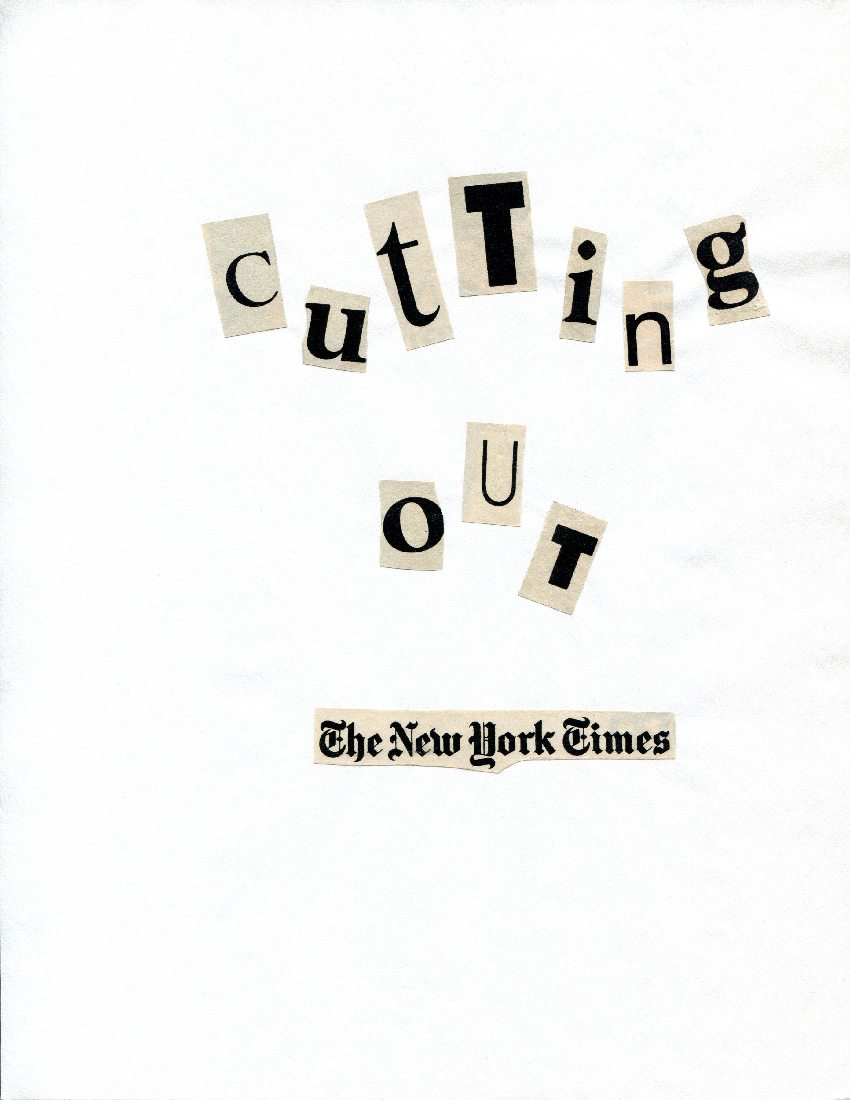 Cutting Out The New York Times, 1977