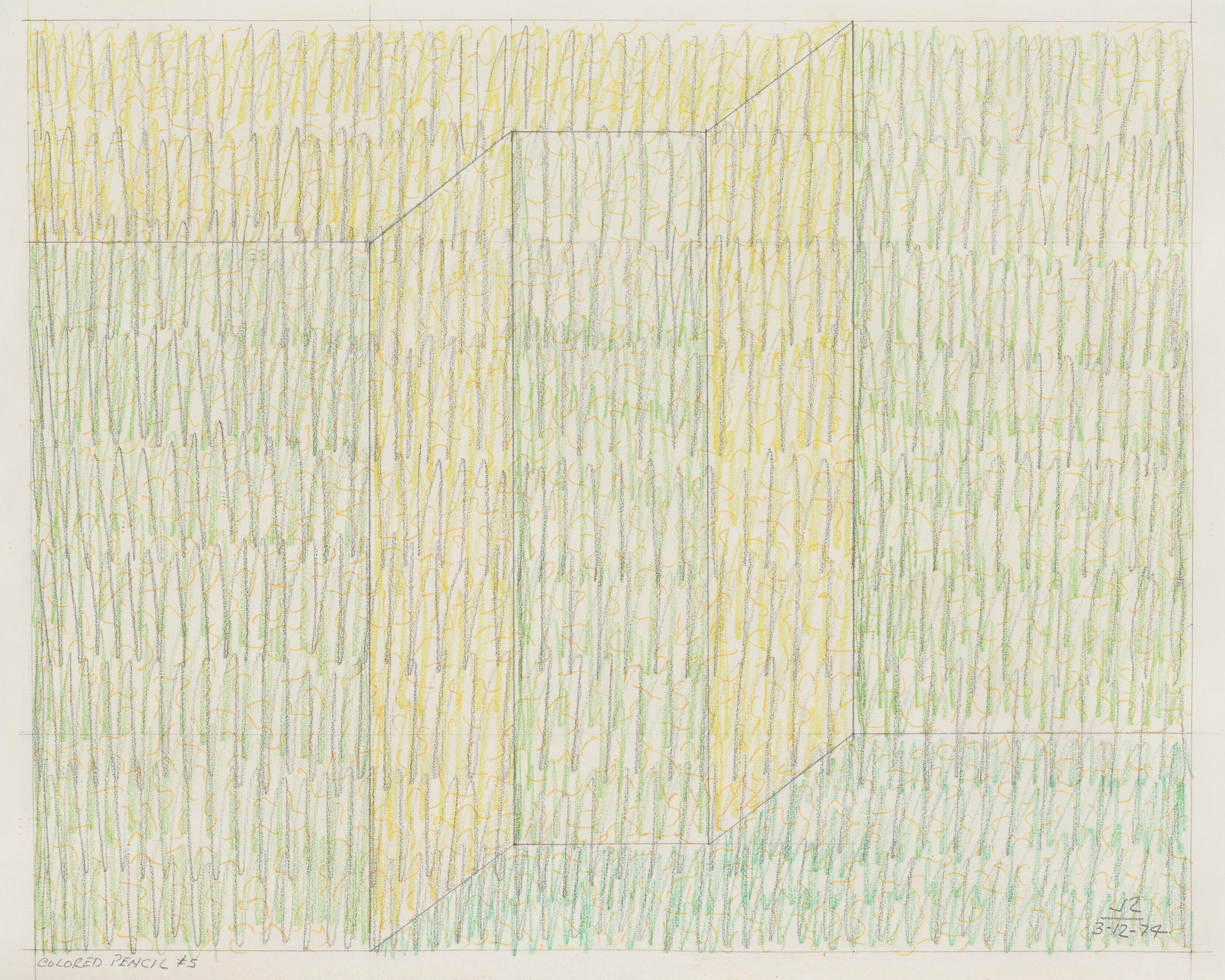 Colored Pencil #5, 1974, Colored pencil on paper