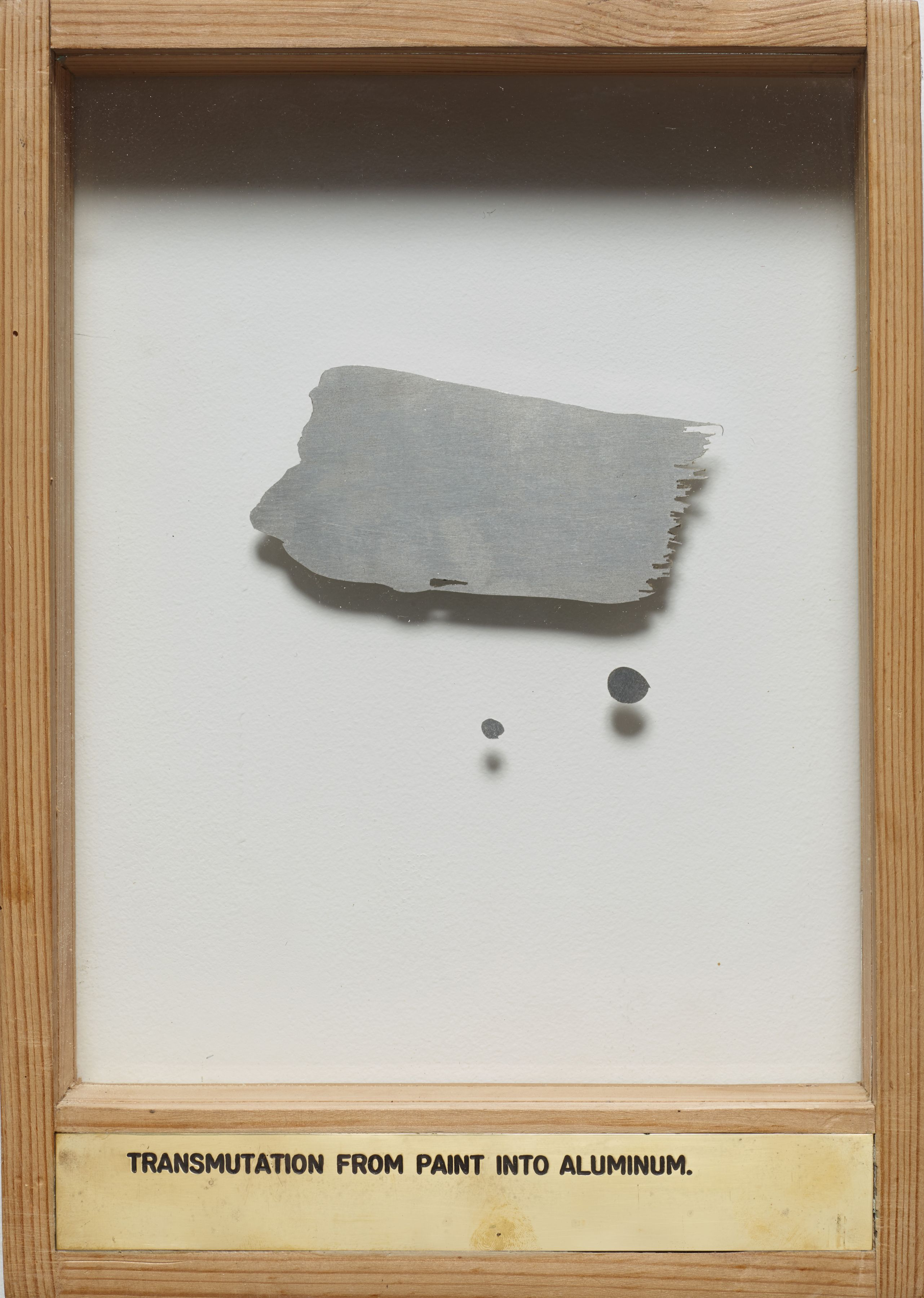 Luis Camnitzer, Transmutation from Paint into Aluminum, 1976