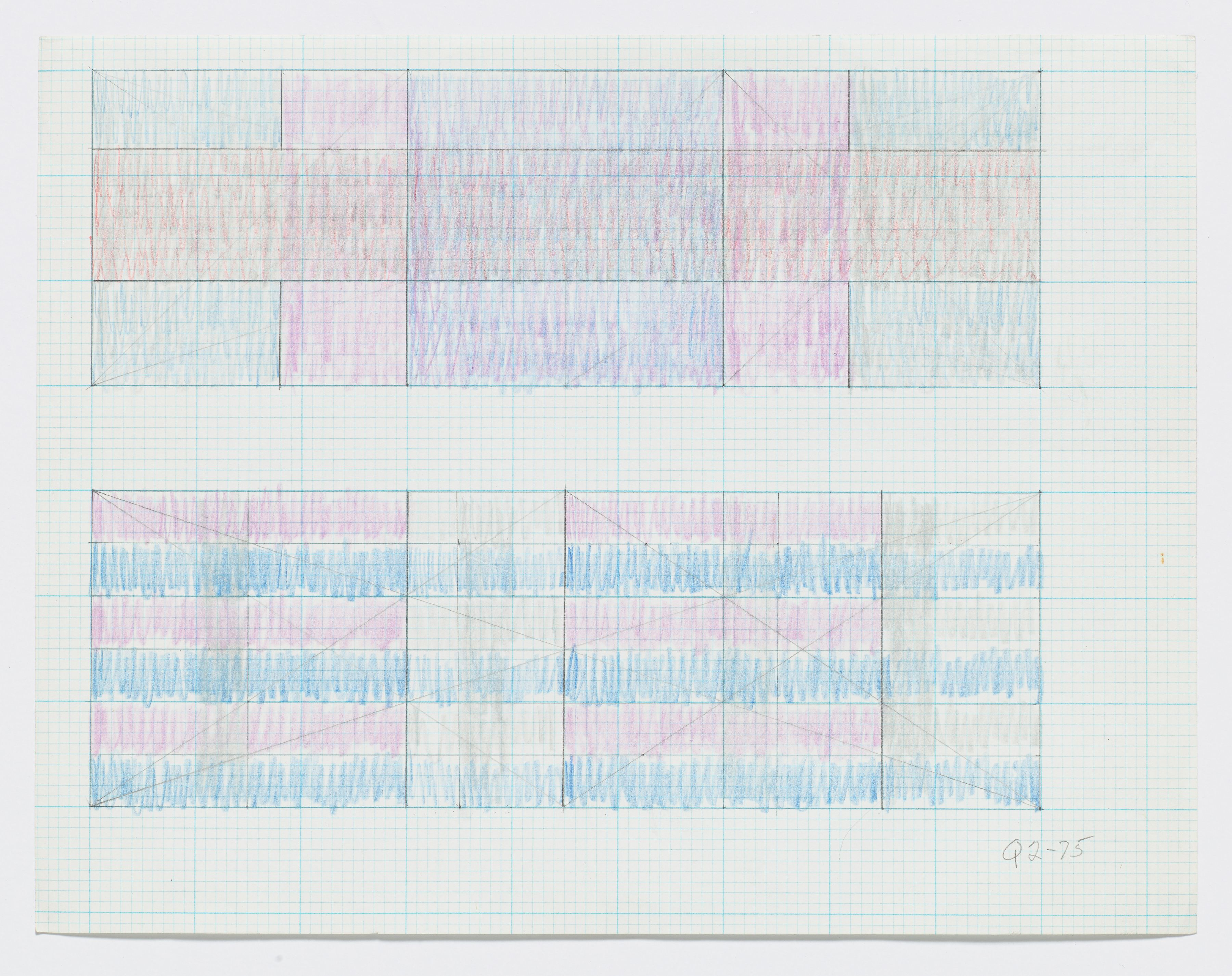 "Jack Tworkov, Q2-75 (Two sketches for ""Triptych""), 1975"